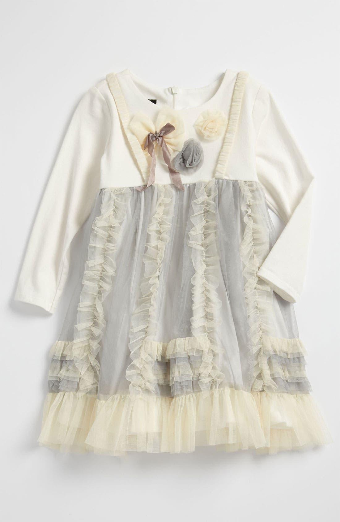 Alternate Image 1 Selected - Isobella & Chloe Mesh Dress (Toddler)