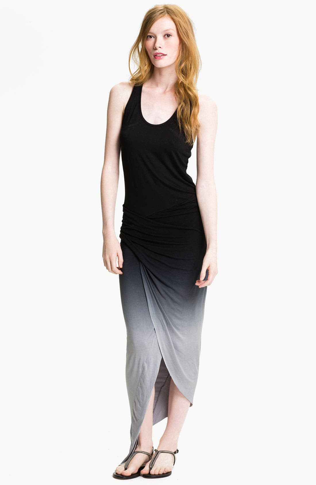 Main Image - Young, Fabulous & Broke 'Sassy' Faux Wrap Maxi Dress