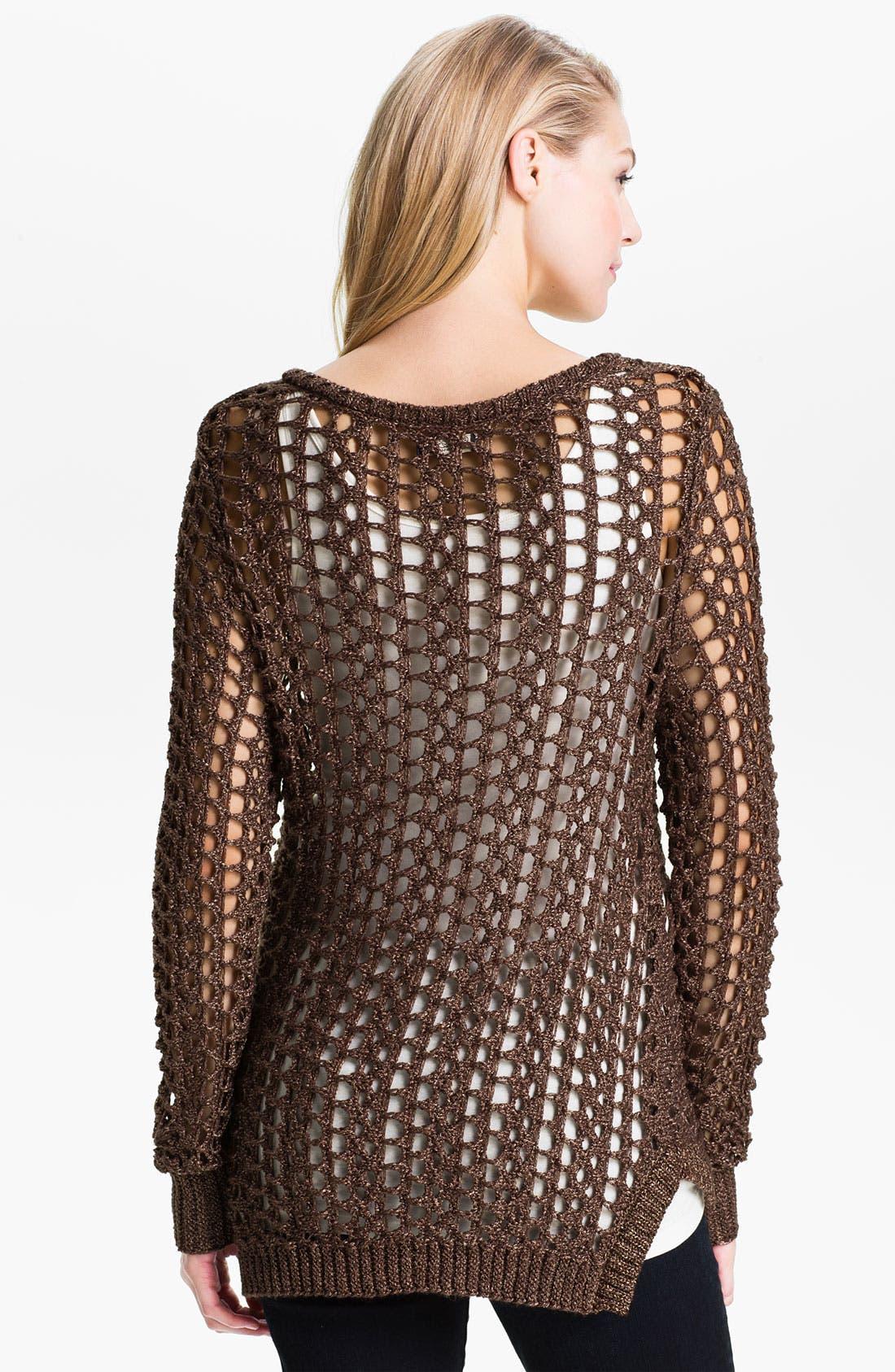 Alternate Image 2  - Lucky Brand 'Macey' Metallic Sweater