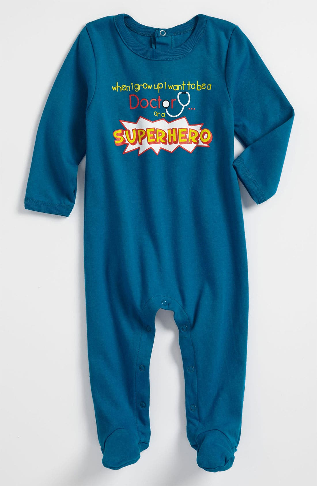 Alternate Image 1 Selected - Sara Kety Baby & Kids 'Superhero' Footie (Infant)