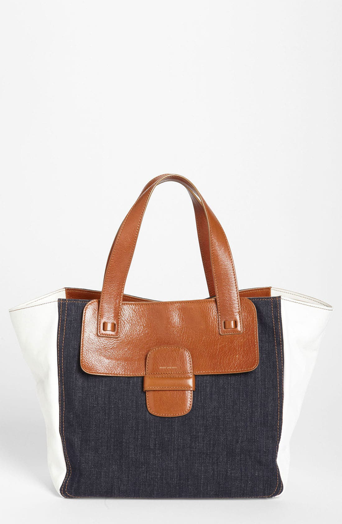 Alternate Image 1 Selected - MARC JACOBS 'Small Khaki' Denim & Leather Tote