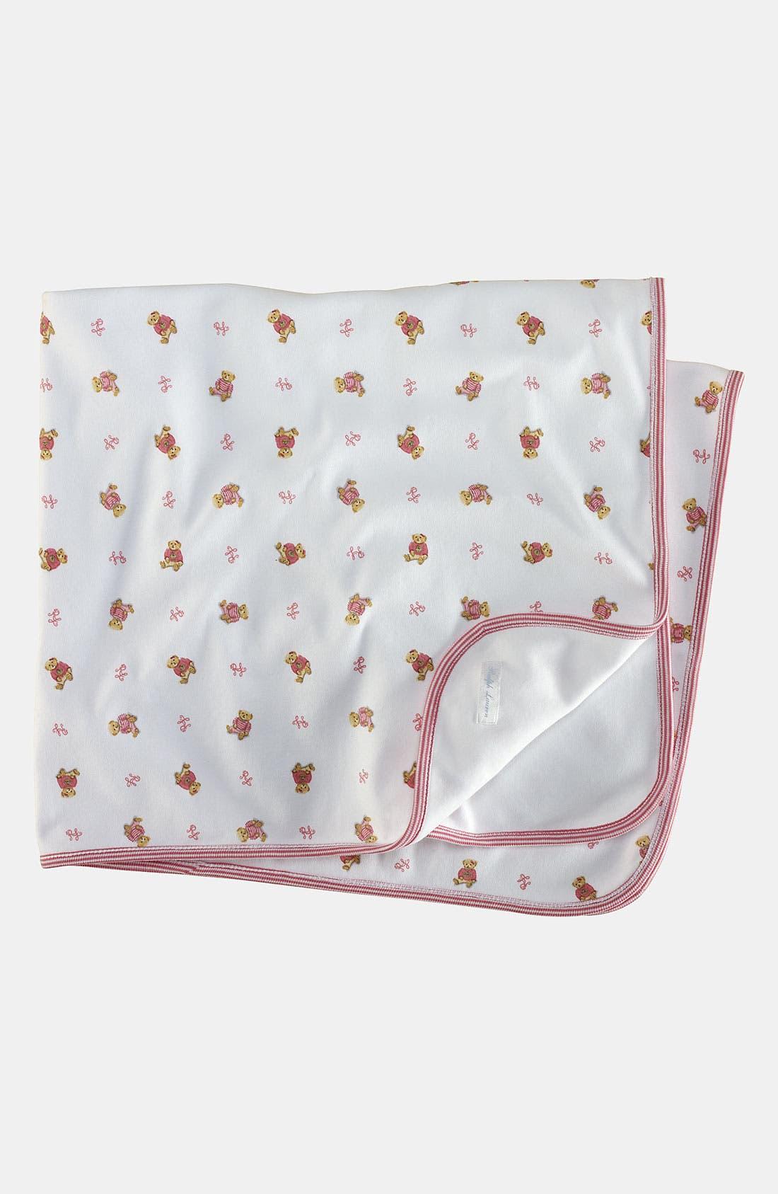 Alternate Image 1 Selected - Ralph Lauren Reversible Receiving Blanket