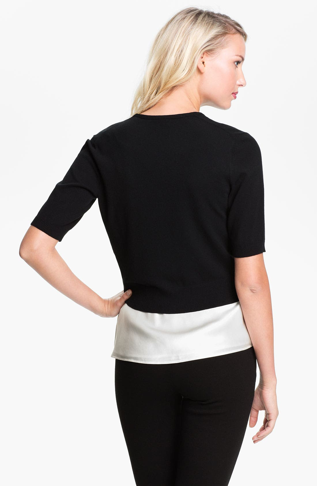 Alternate Image 2  - Lafayette 148 New York Crop Cardigan
