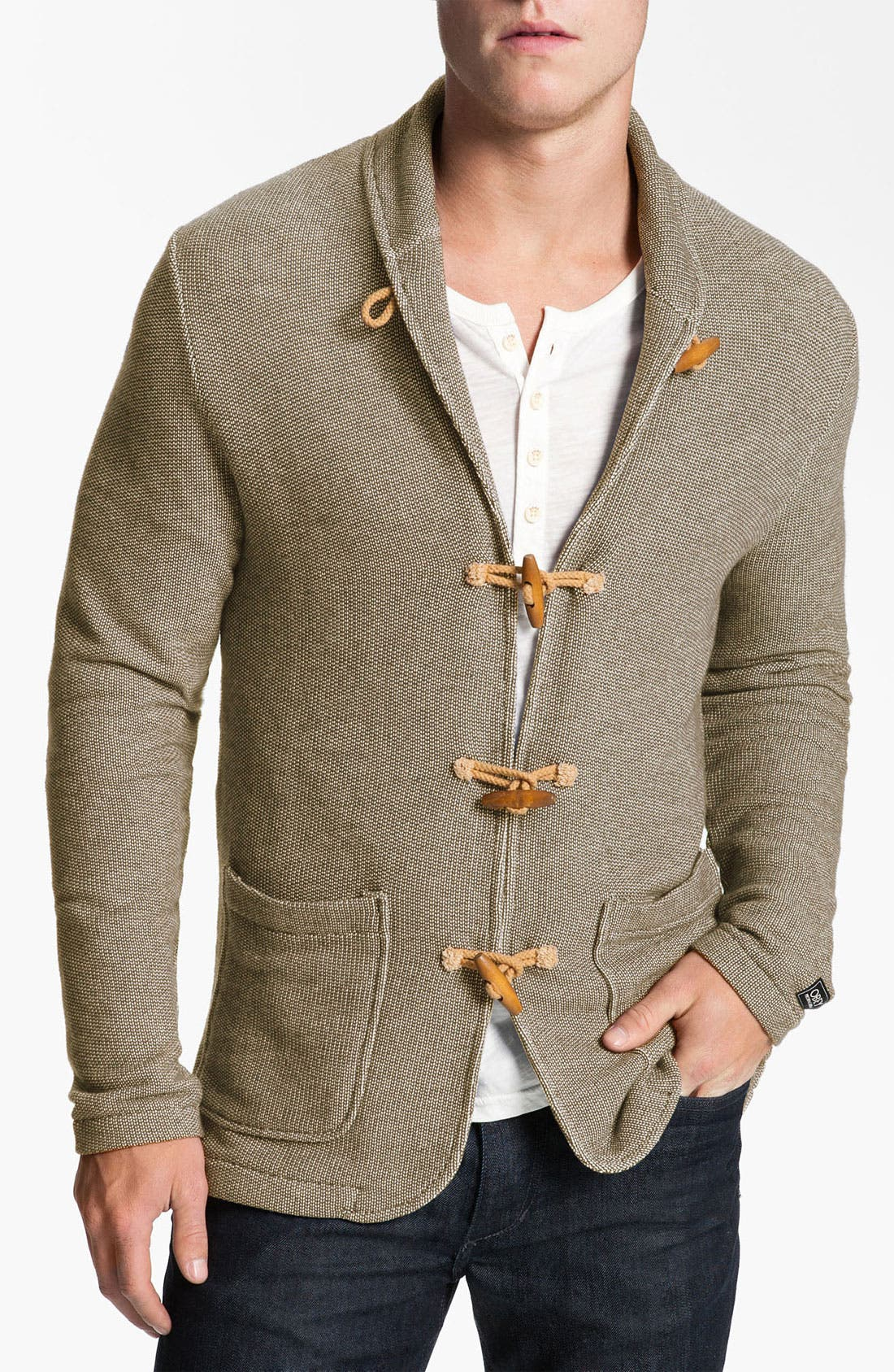 Alternate Image 1 Selected - Obey 'Tracks' Shawl Collar Cardigan
