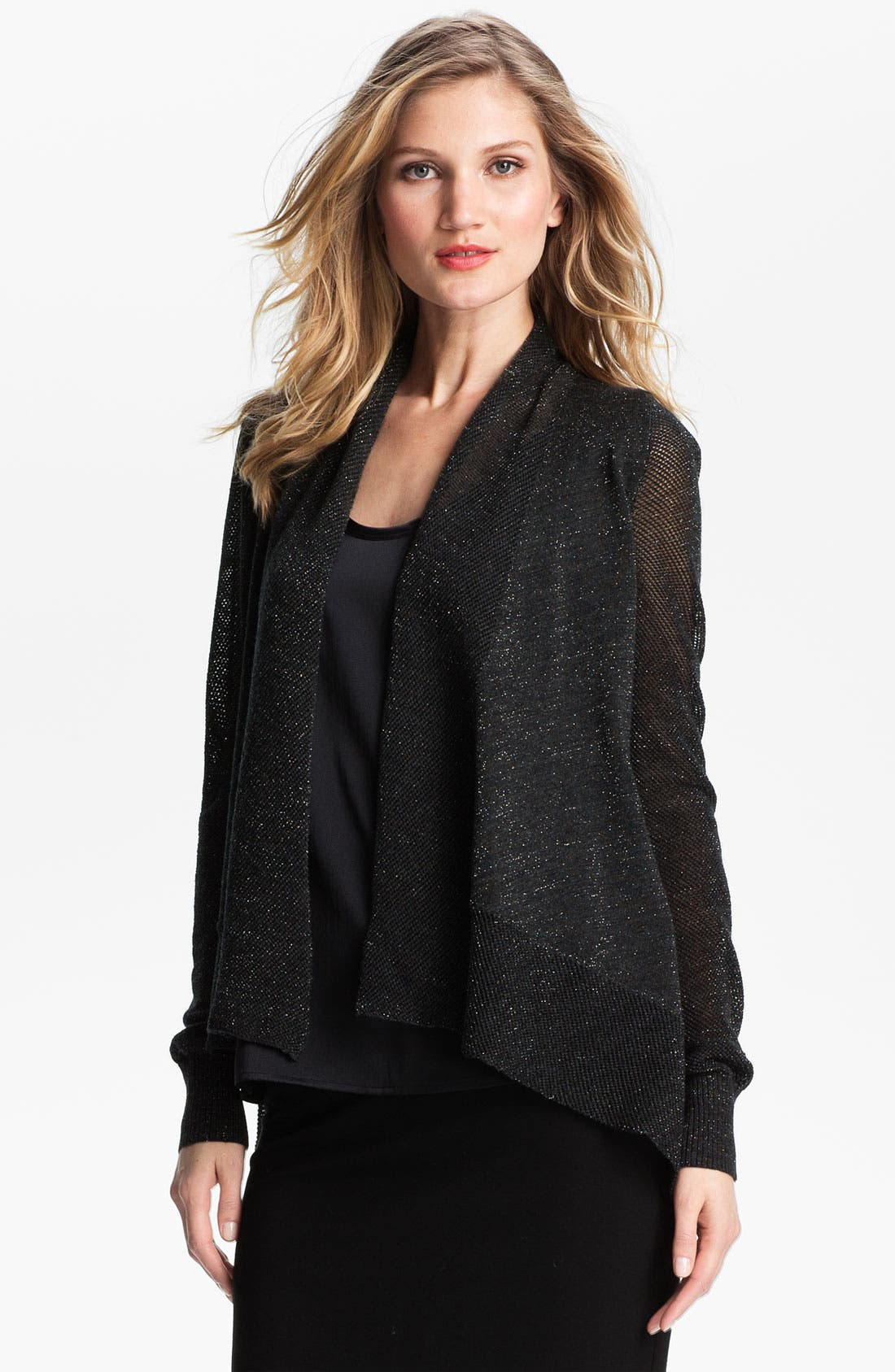 Alternate Image 1 Selected - Eileen Fisher Shimmer Cardigan (Nordstrom Exclusive)