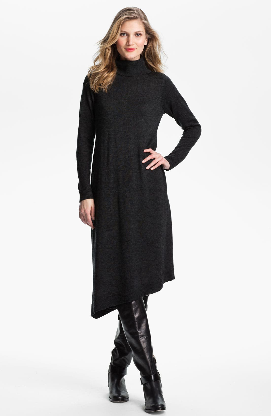 Alternate Image 1 Selected - Eileen Fisher Merino Jersey Sweater Dress