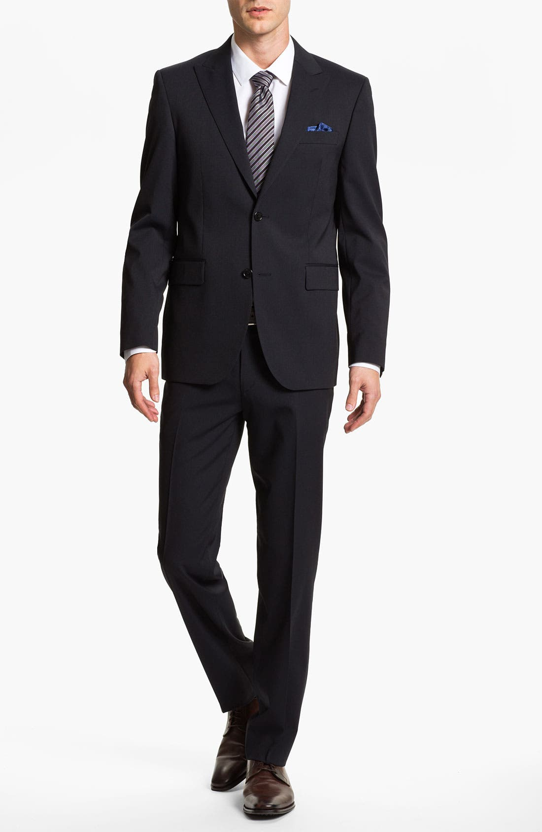 Alternate Image 2  - Sand Trim Fit Wool Blend Suit