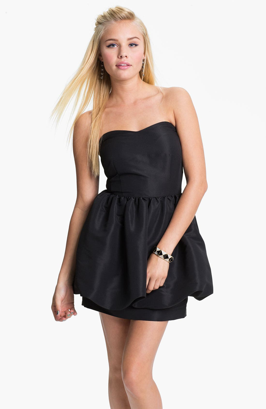 Alternate Image 1 Selected - Original Frenchi Bubble Strapless Dress (Juniors)