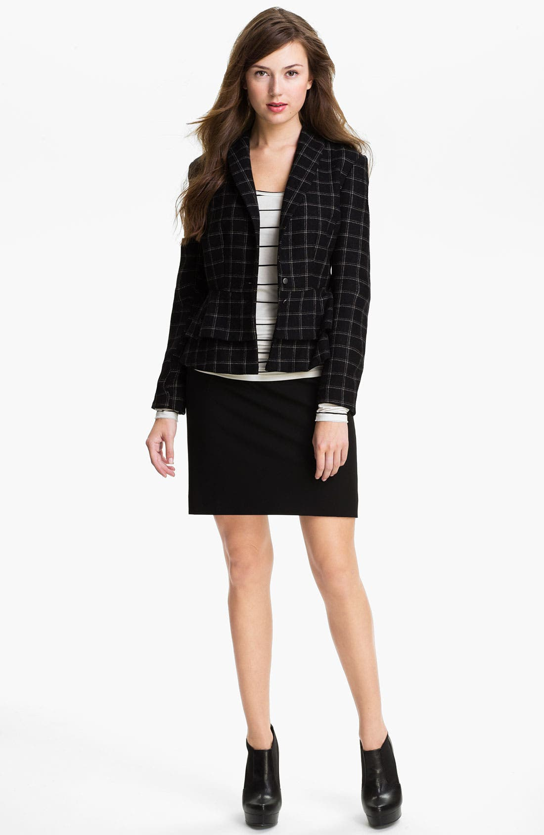 Alternate Image 4  - Max & Mia Plaid Peplum Jacket