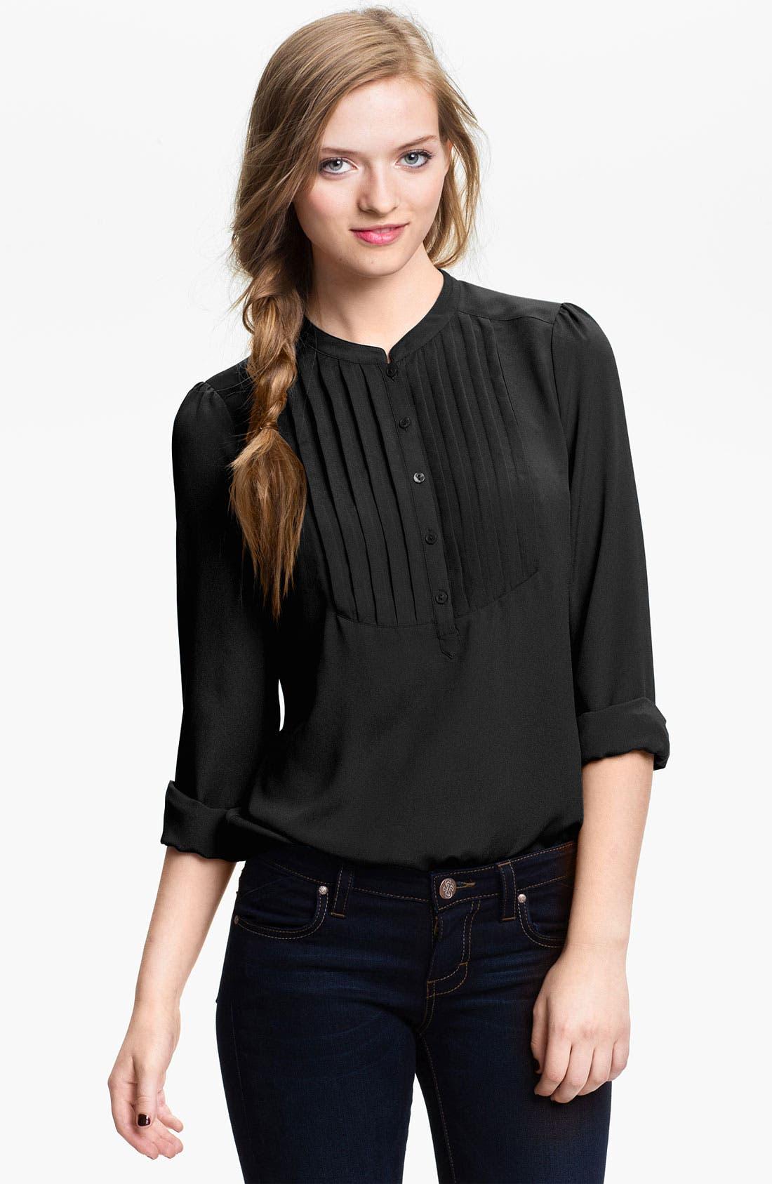 Main Image - BP. Tuxedo Shirt (Juniors)
