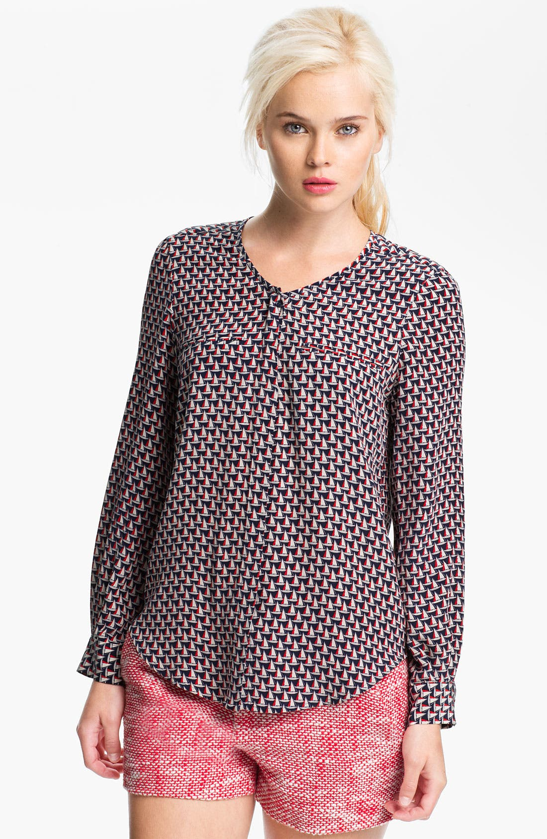 Alternate Image 1 Selected - Joie 'Osana' Print Silk Blouse