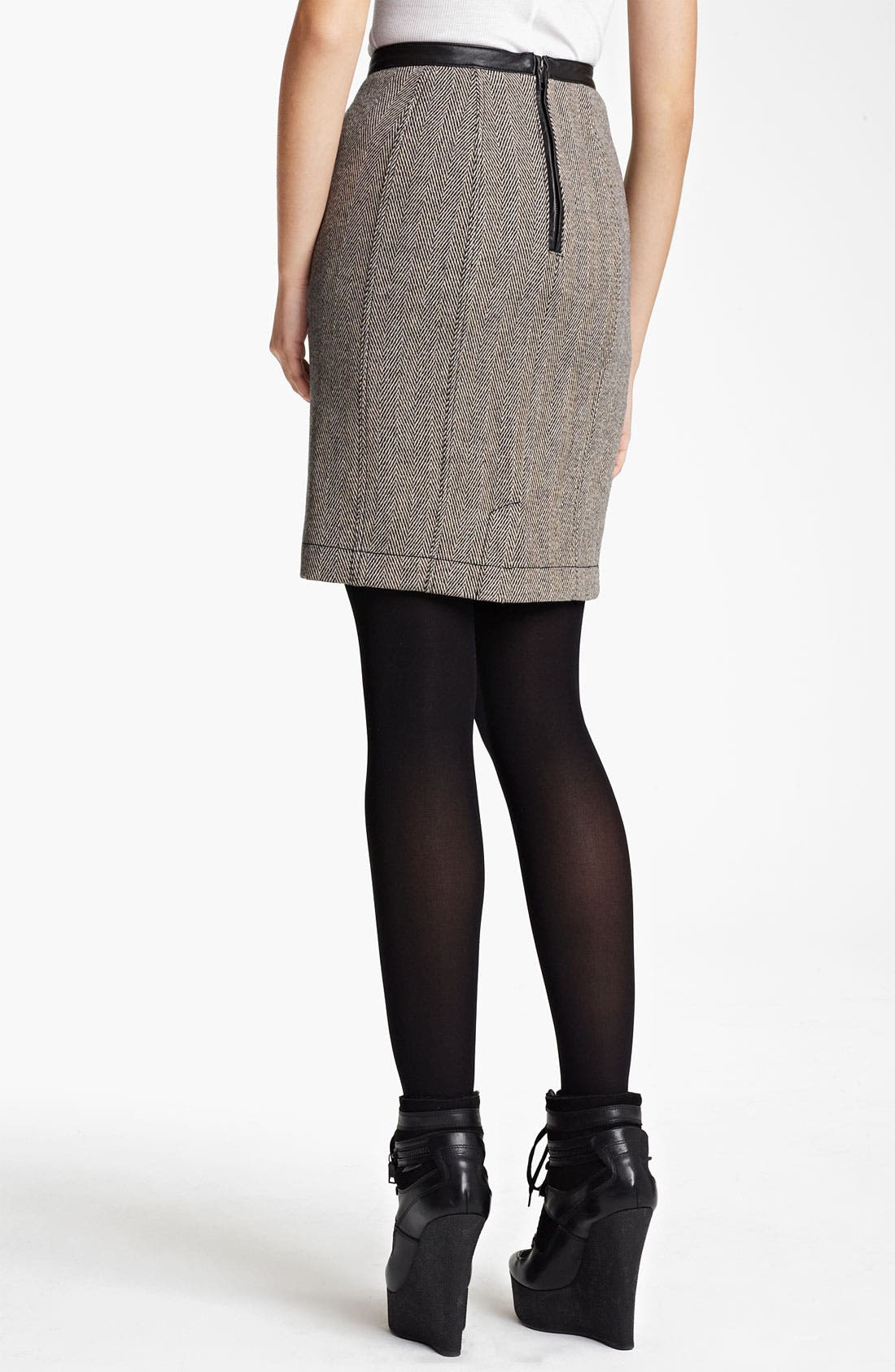 Alternate Image 2  - Burberry Brit Wool Blend Skirt