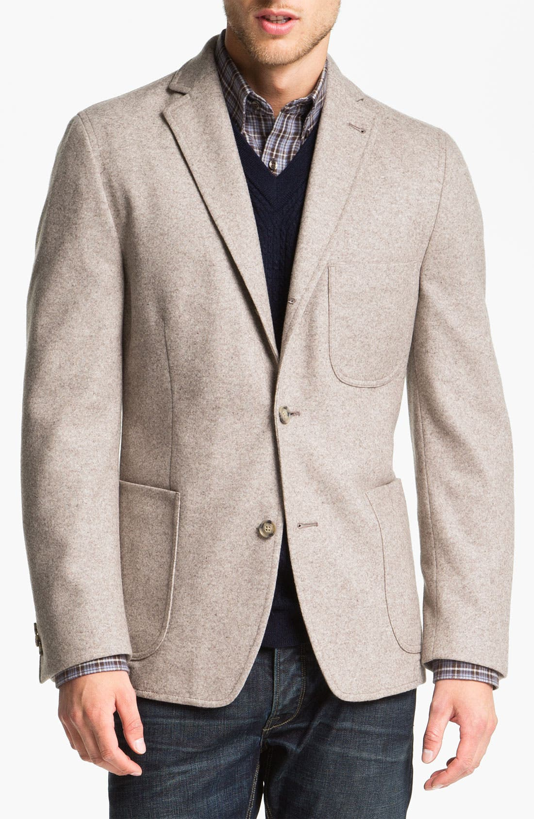 Main Image - Kroon 'Mayer' Wool & Cashmere Blend Knit Sportcoat