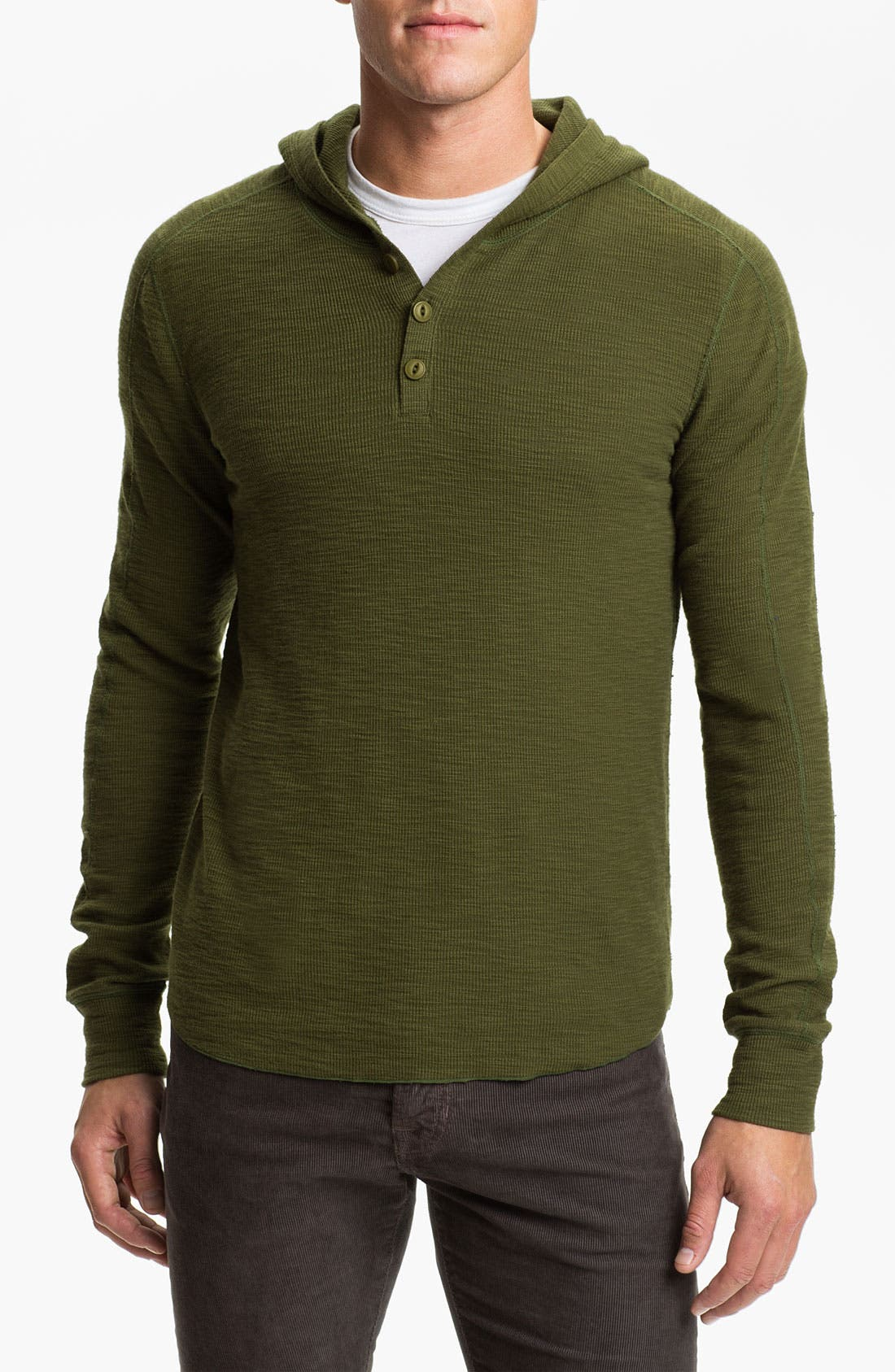 Alternate Image 1 Selected - Vince Hooded Henley Thermal Shirt