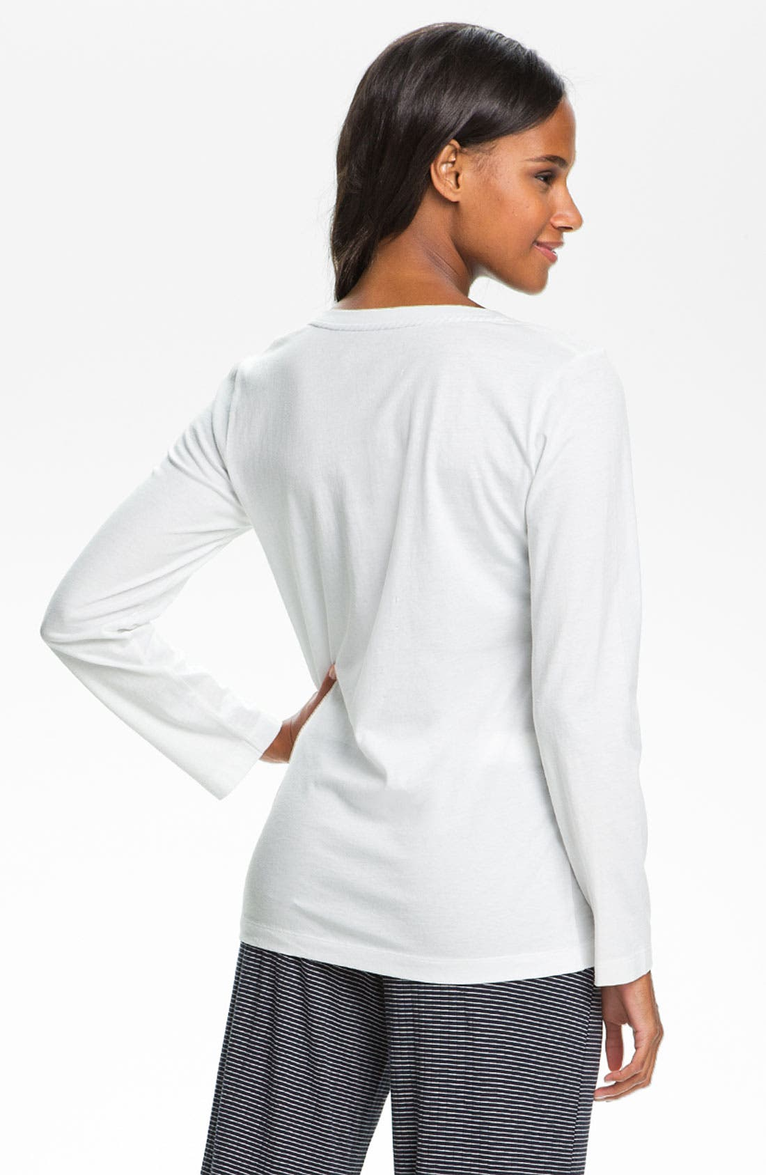 Alternate Image 2  - Lauren Ralph Lauren Sleepwear Long Sleeve Sleep Tee