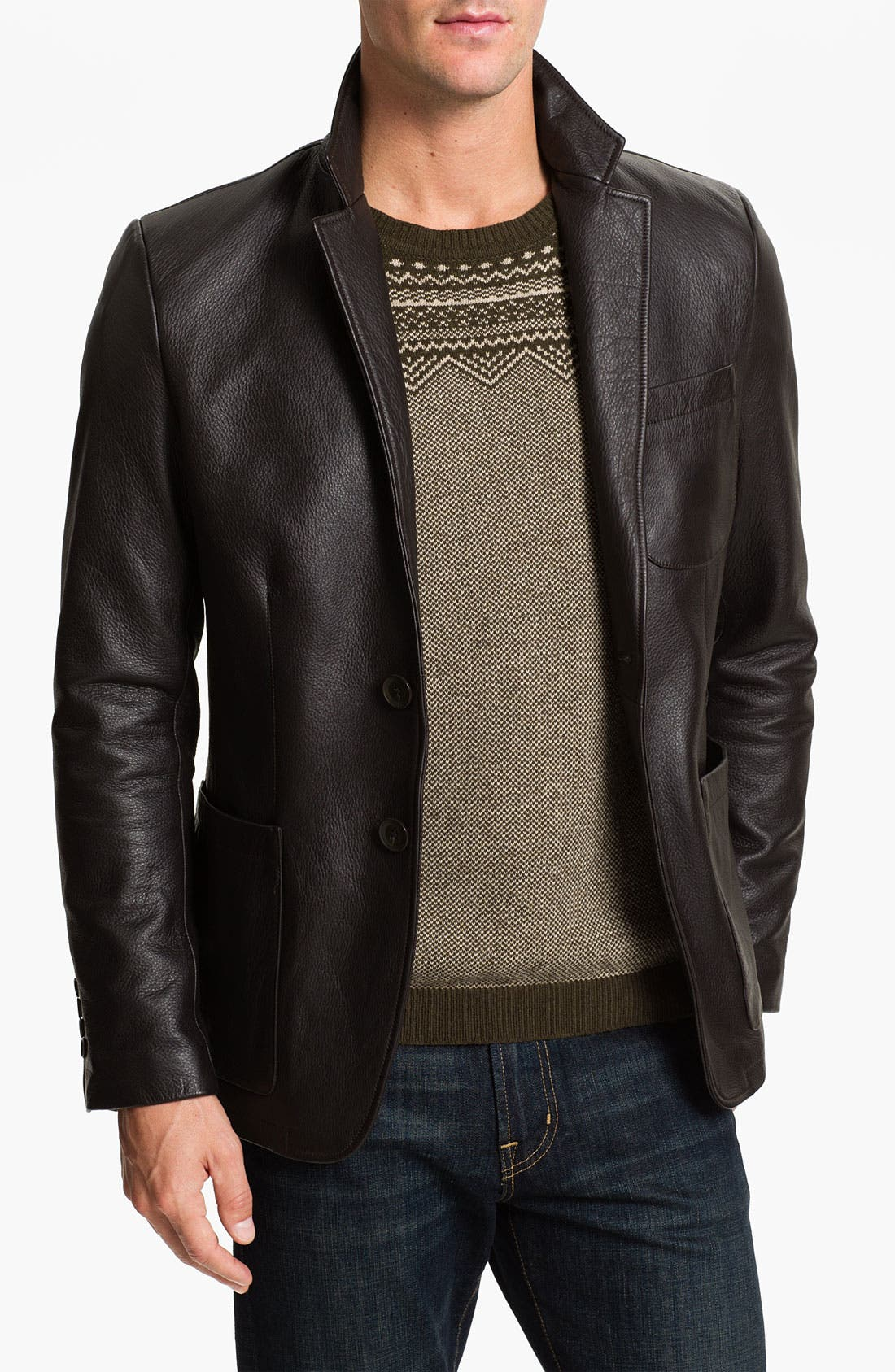 Main Image - Alex & Co. Leather Blazer
