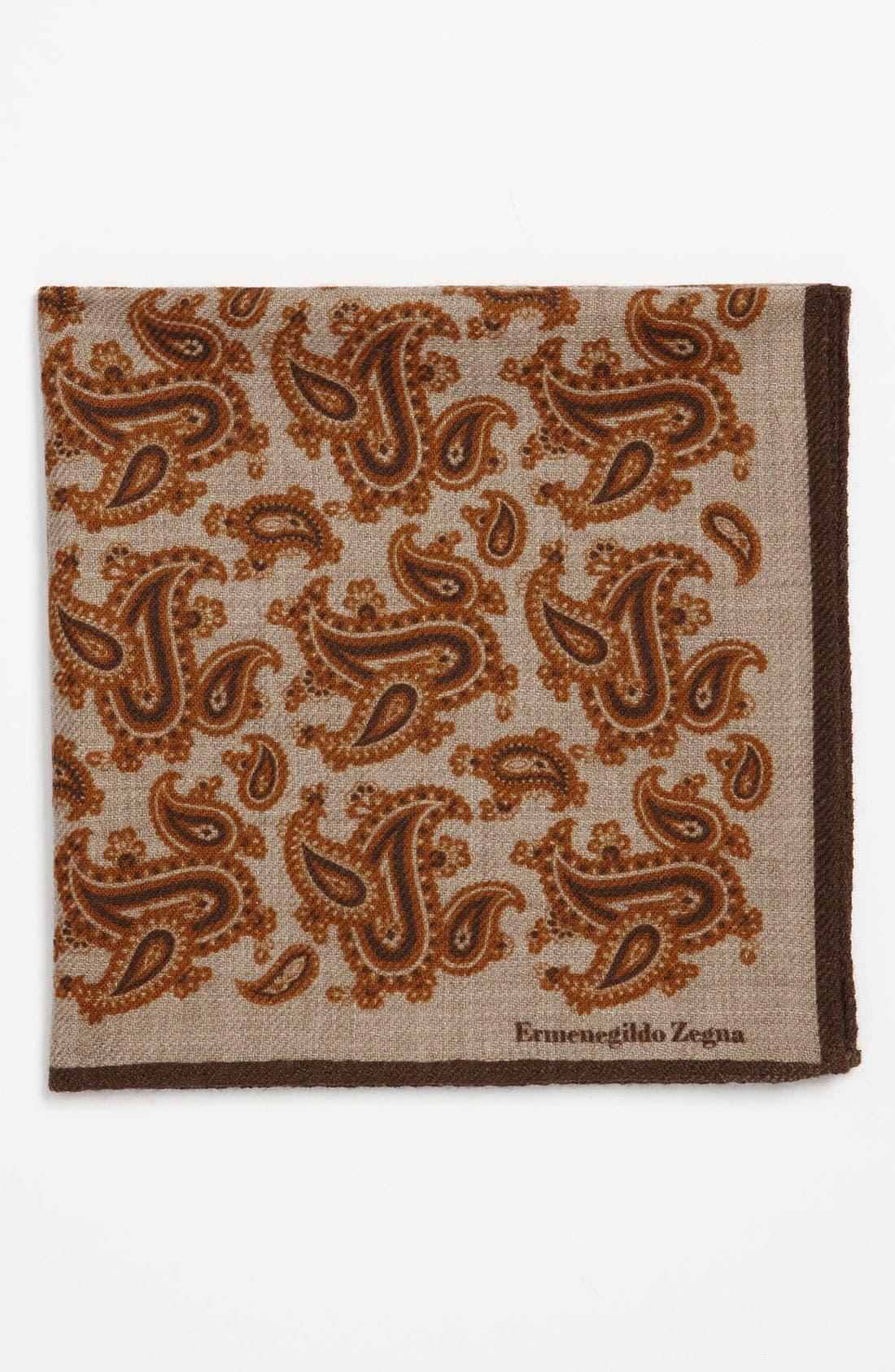 Main Image - Ermenegildo Zegna Wool Pocket Square