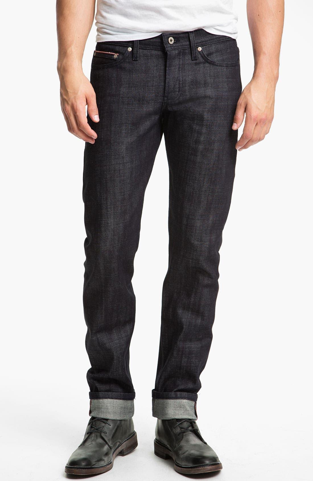 Alternate Image 2  - Naked & Famous Denim 'Weird Guy' Slim Tapered Leg Red Core Selvedge Jeans (Indigo)