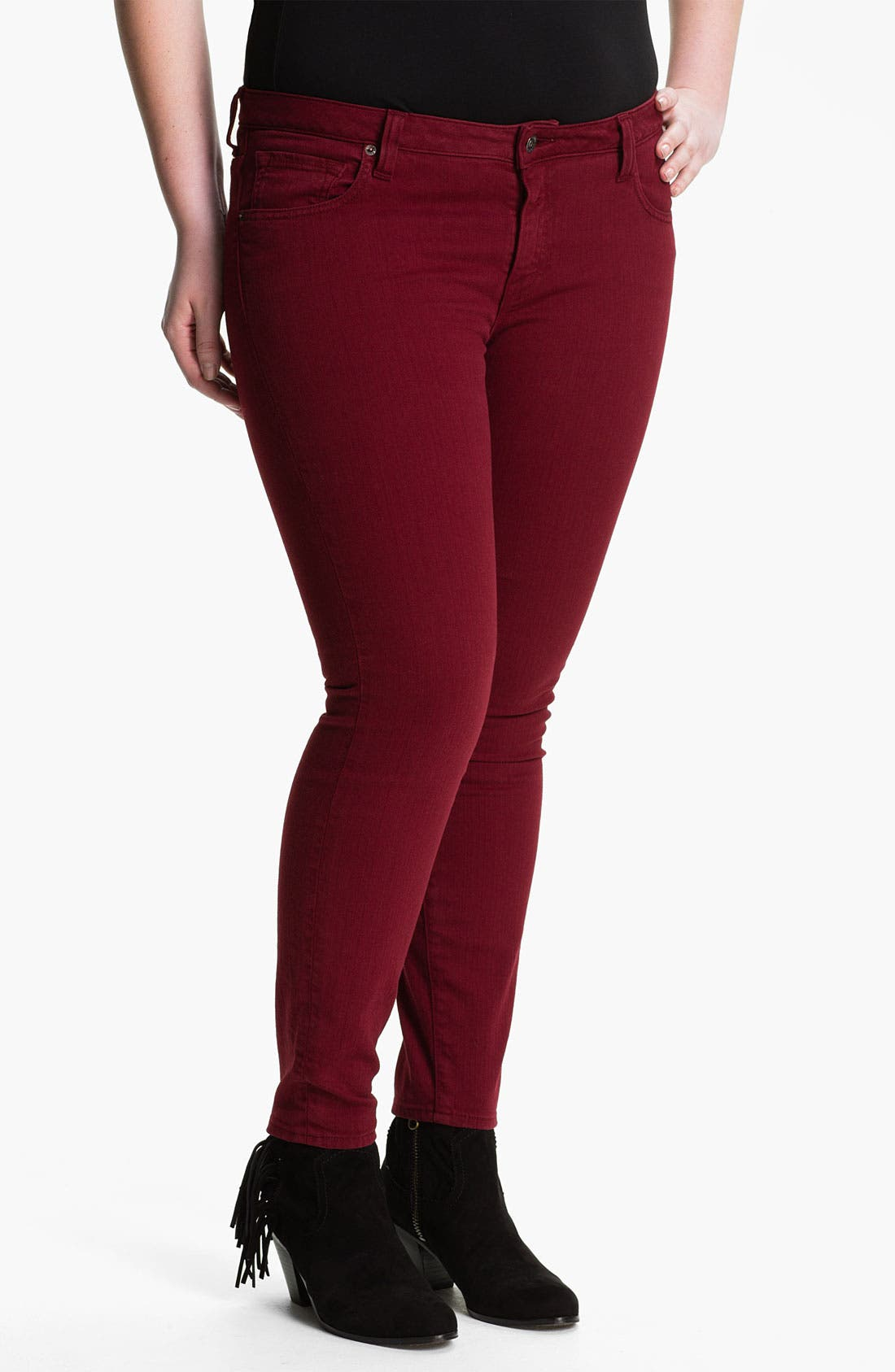 Alternate Image 1 Selected - Lucky Brand 'Ginger' Skinny Jeans (Plus)