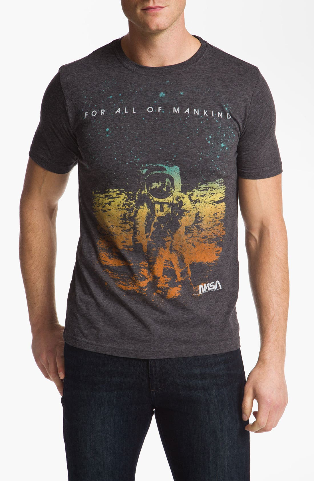 Alternate Image 1 Selected - Free Authority 'NASA Man On Moon' Graphic T-Shirt