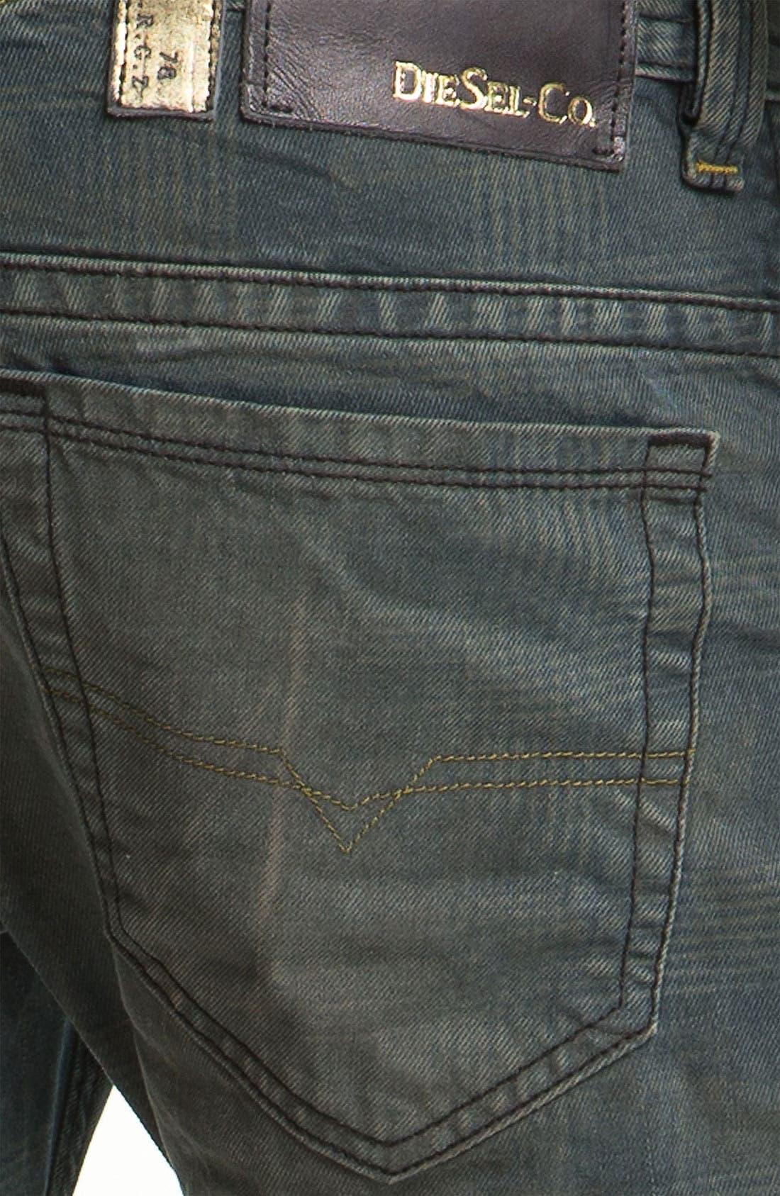 Alternate Image 4  - DIESEL® 'Thavar' Slim Straight Leg Jeans (0808Z)