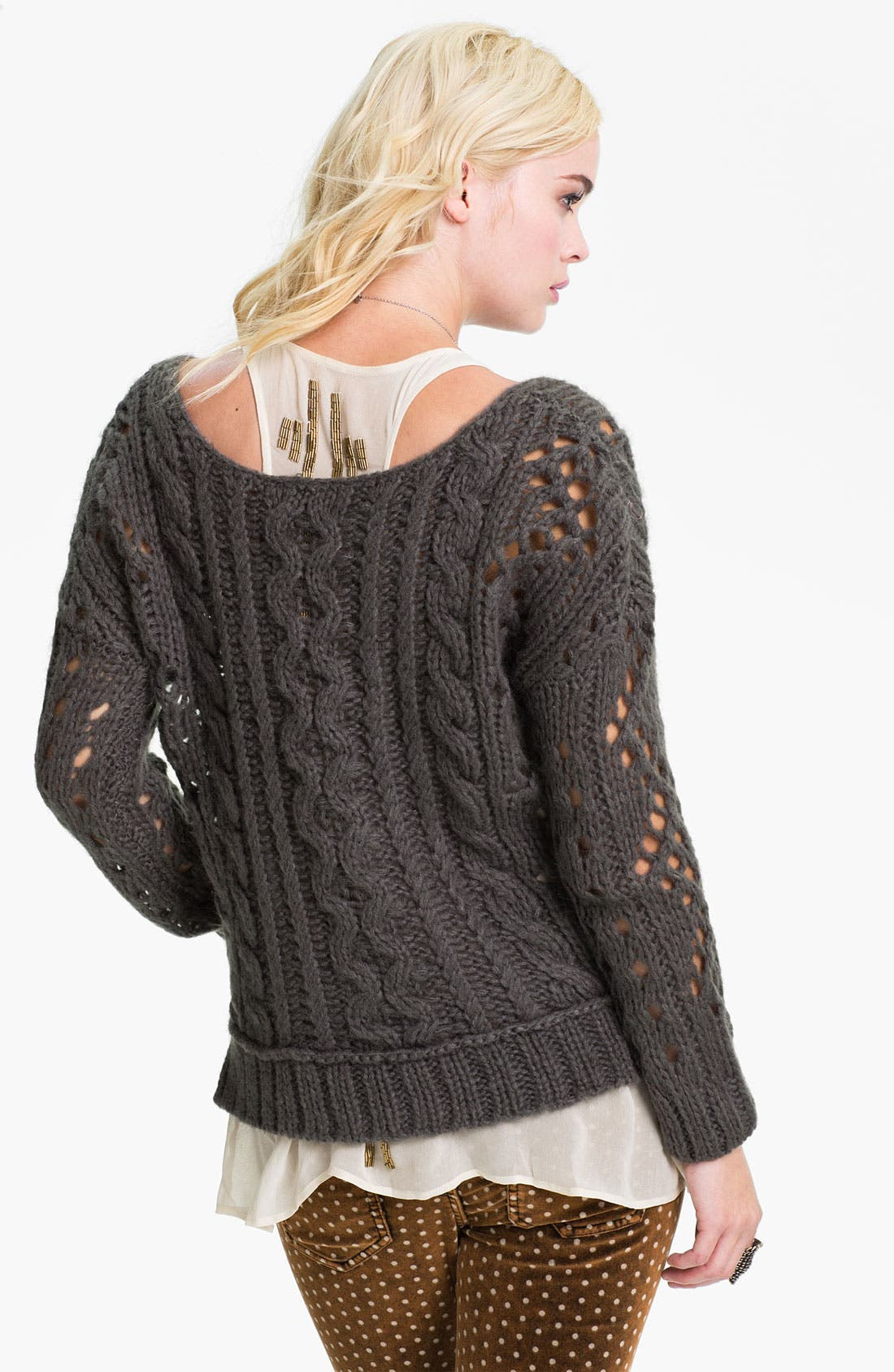 Alternate Image 2  - Free People Chunky Cable Sweater