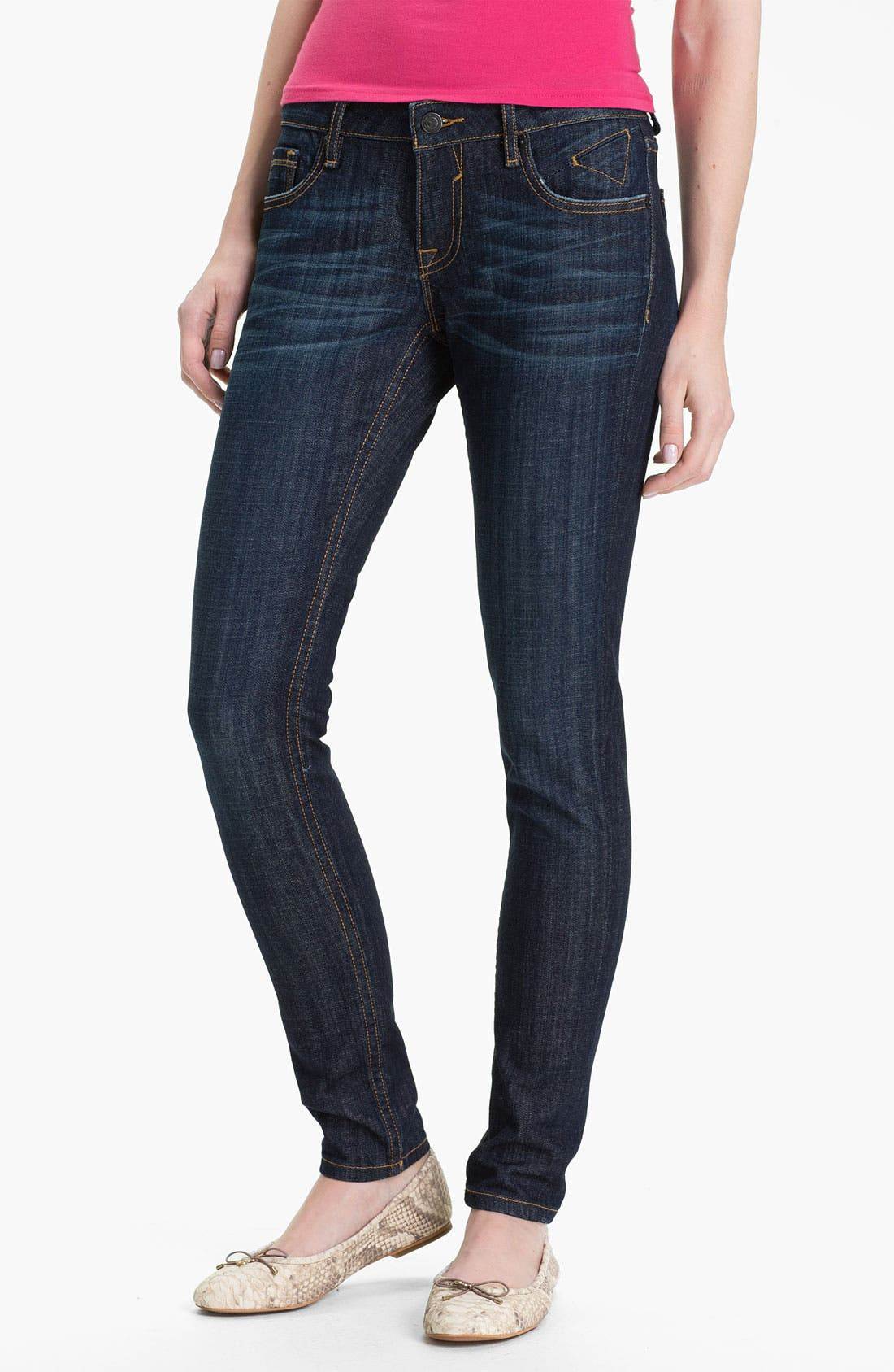 Alternate Image 2  - Vigoss 'True' Skinny Stretch Denim Jeans (Juniors)