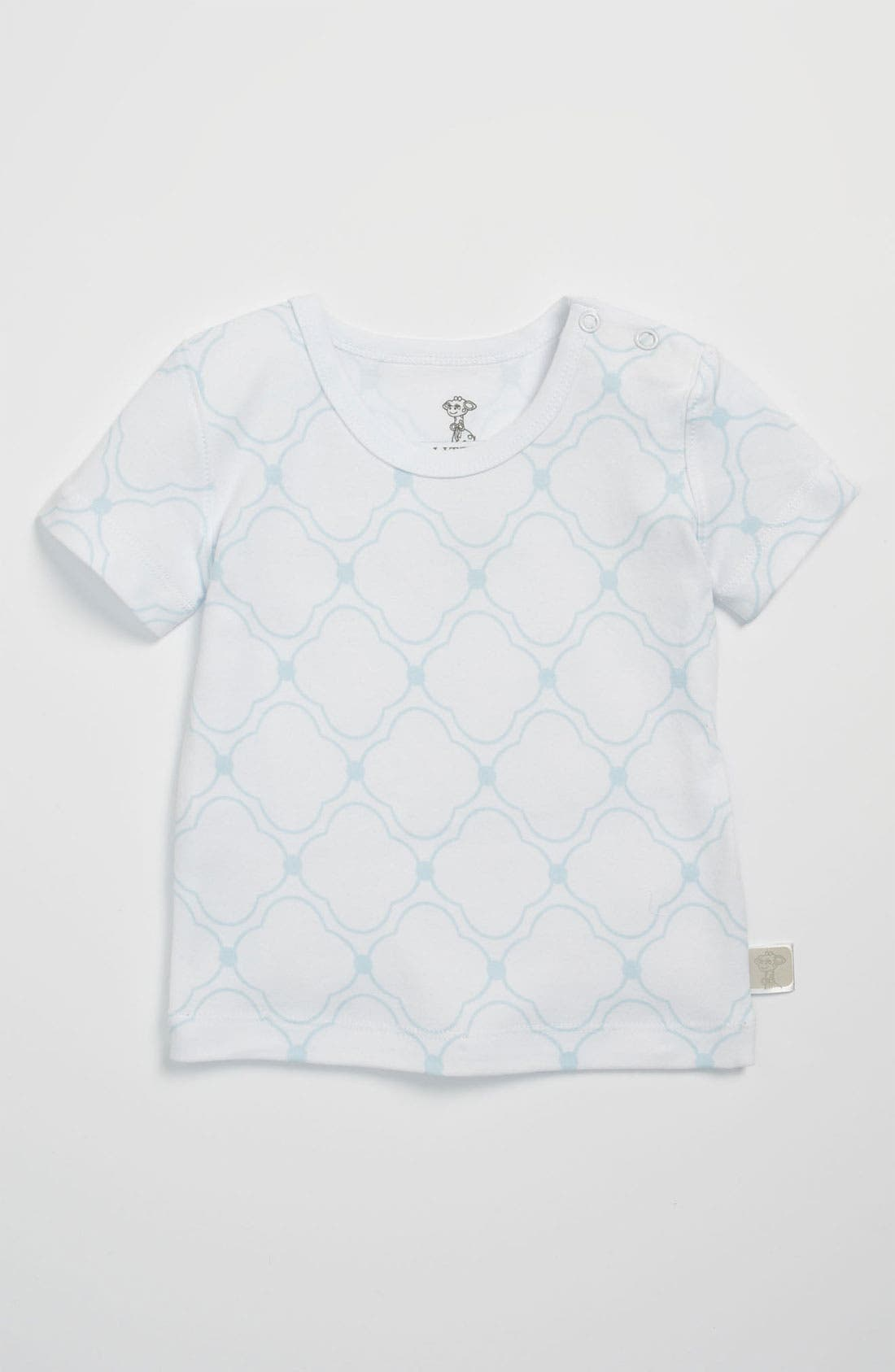 Alternate Image 1 Selected - Little Giraffe Snap Shoulder T-Shirt (Baby)