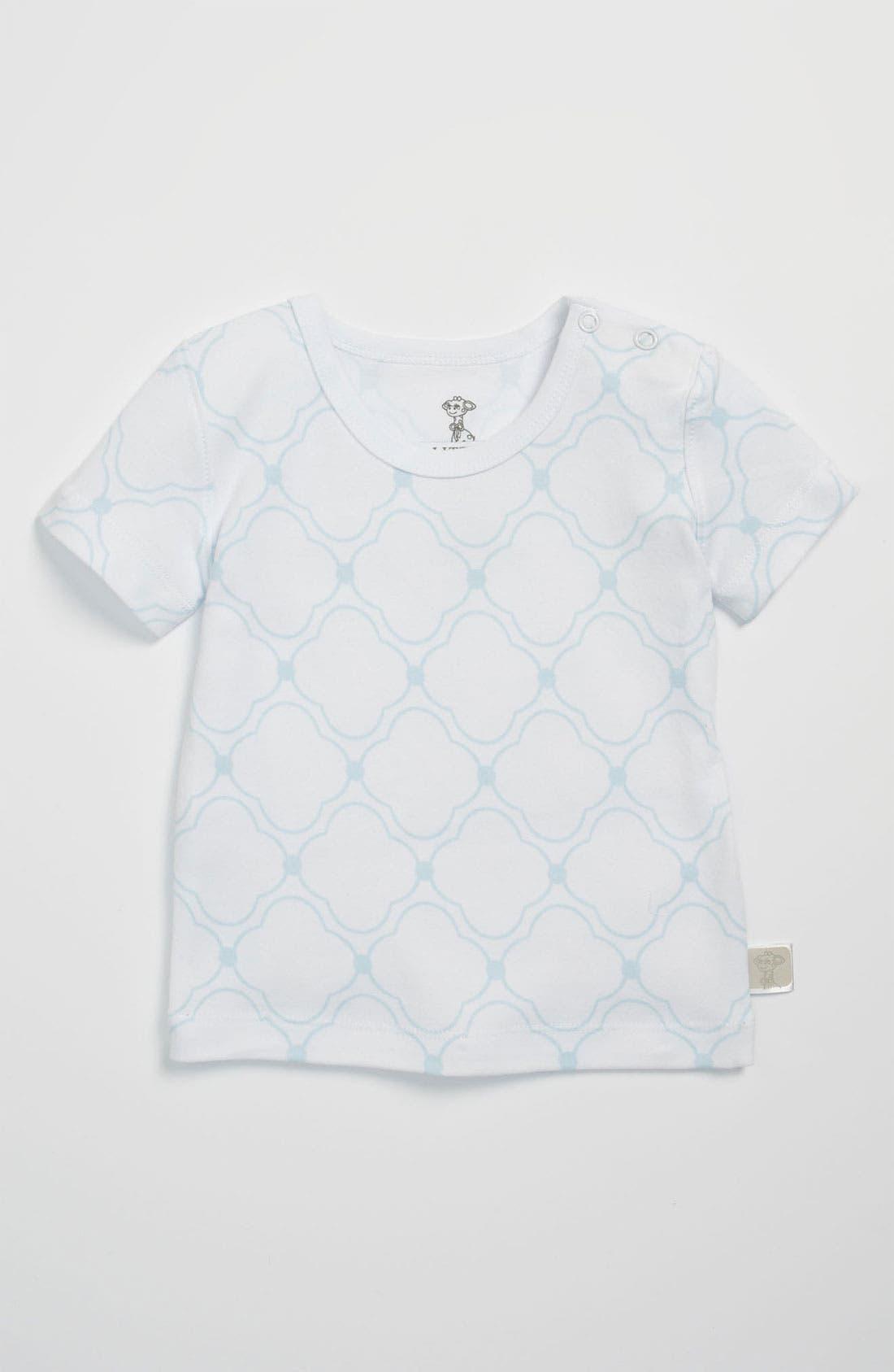 Main Image - Little Giraffe Snap Shoulder T-Shirt (Baby)