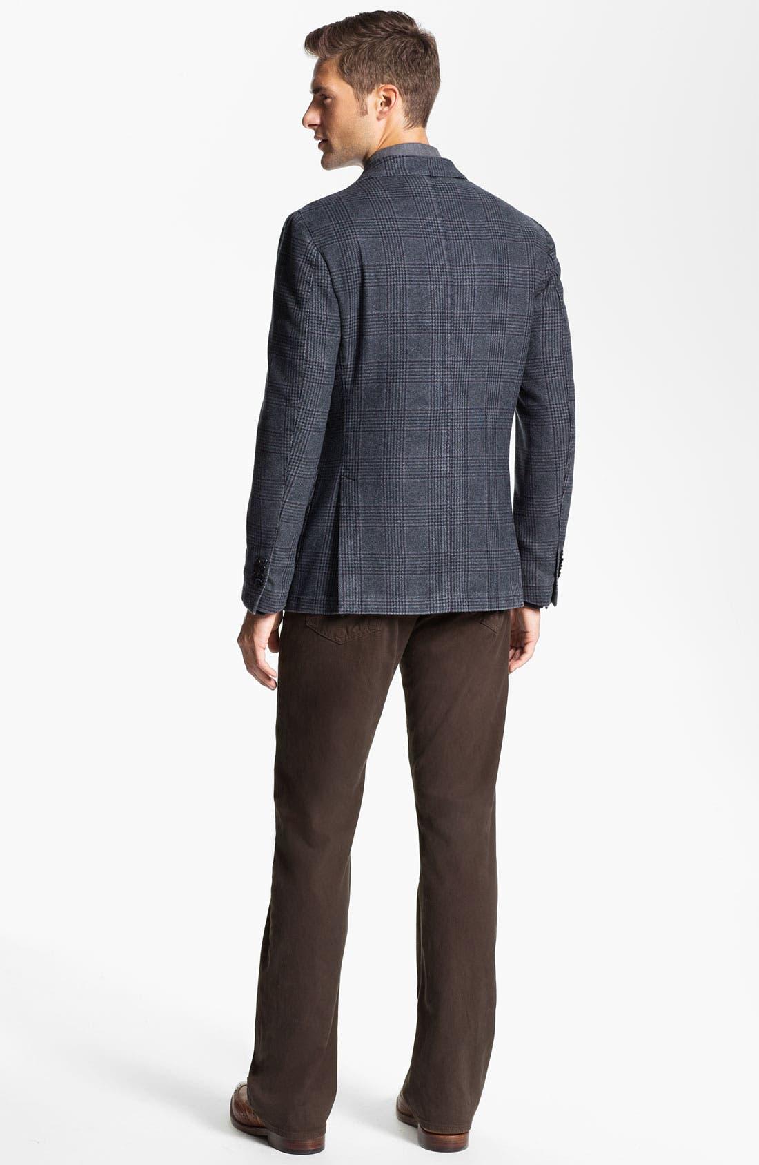 Alternate Image 5  - Lubiam Trim Fit Plaid Wool Blend Sportcoat