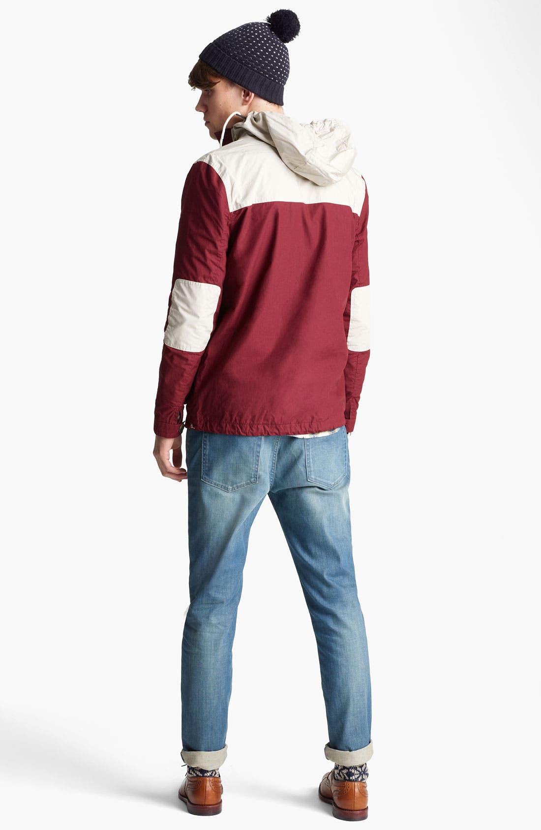 Alternate Image 4  - Topman Colorblock Hooded Jacket