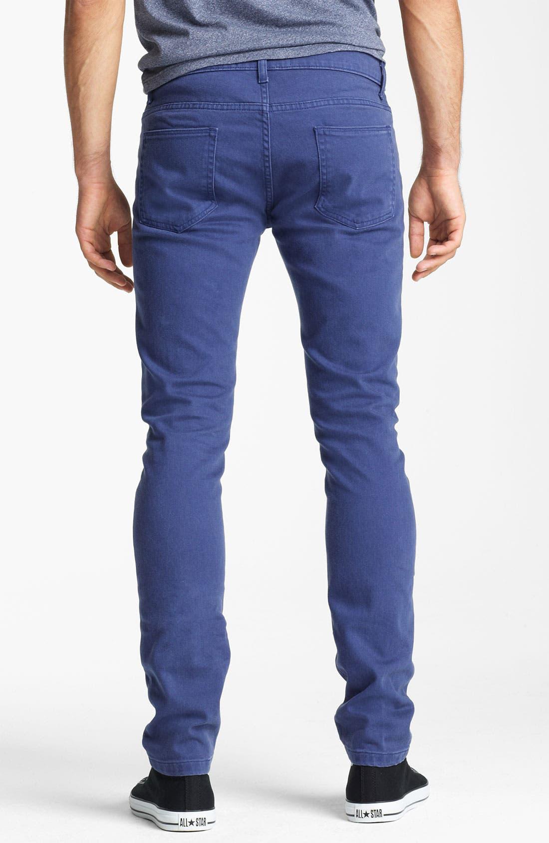 Alternate Image 2  - Topman Stretch Skinny Jeans (Medieval Blue)
