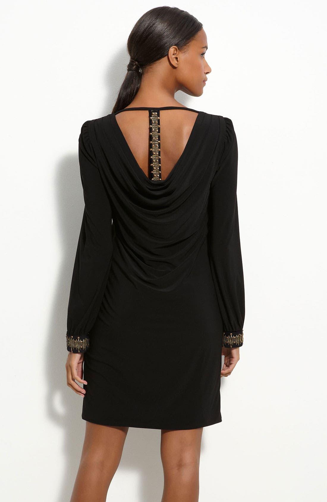 Alternate Image 2  - Maggy London Embellished Jersey Shift Dress