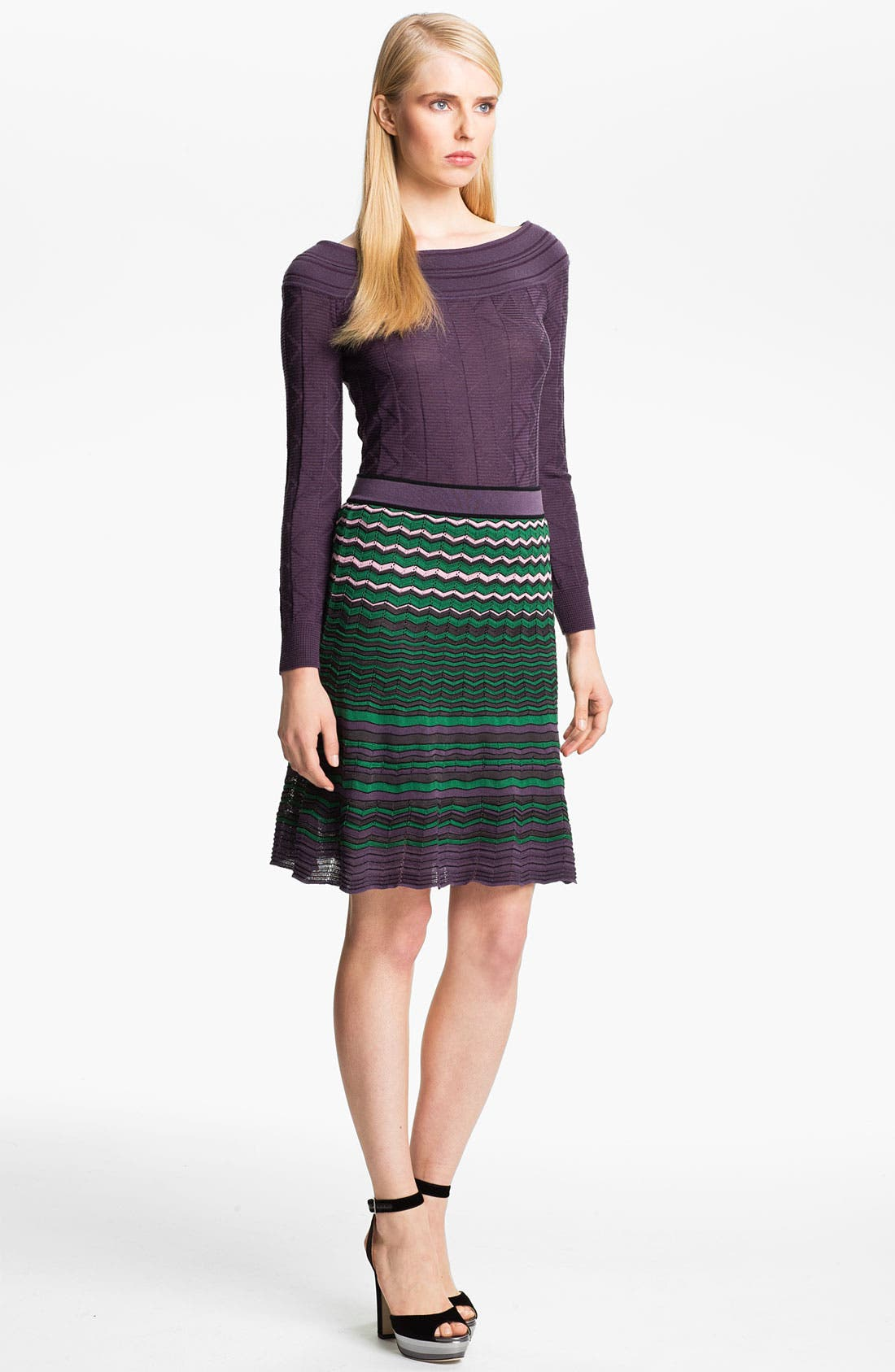 Alternate Image 1 Selected - M Missoni Tonal Zigzag Boatneck Top