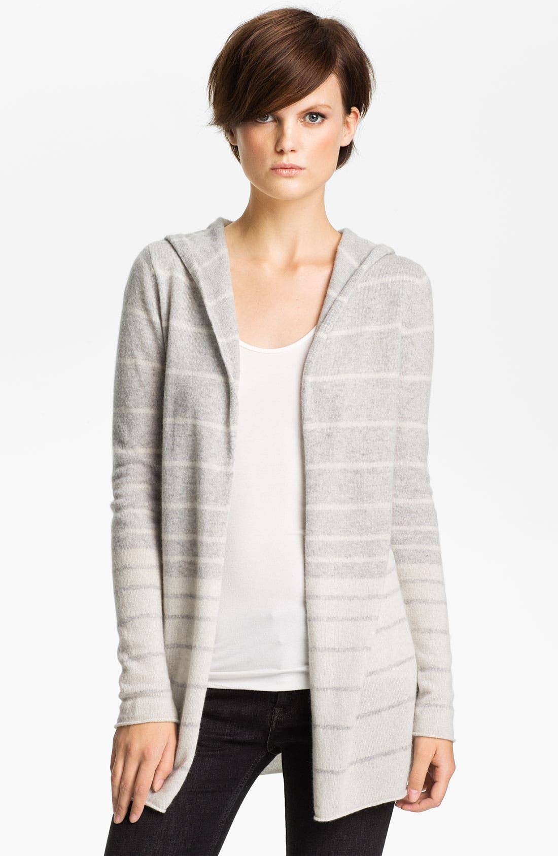 Alternate Image 1 Selected - autumn cashmere Ombré Stripe Hoodie