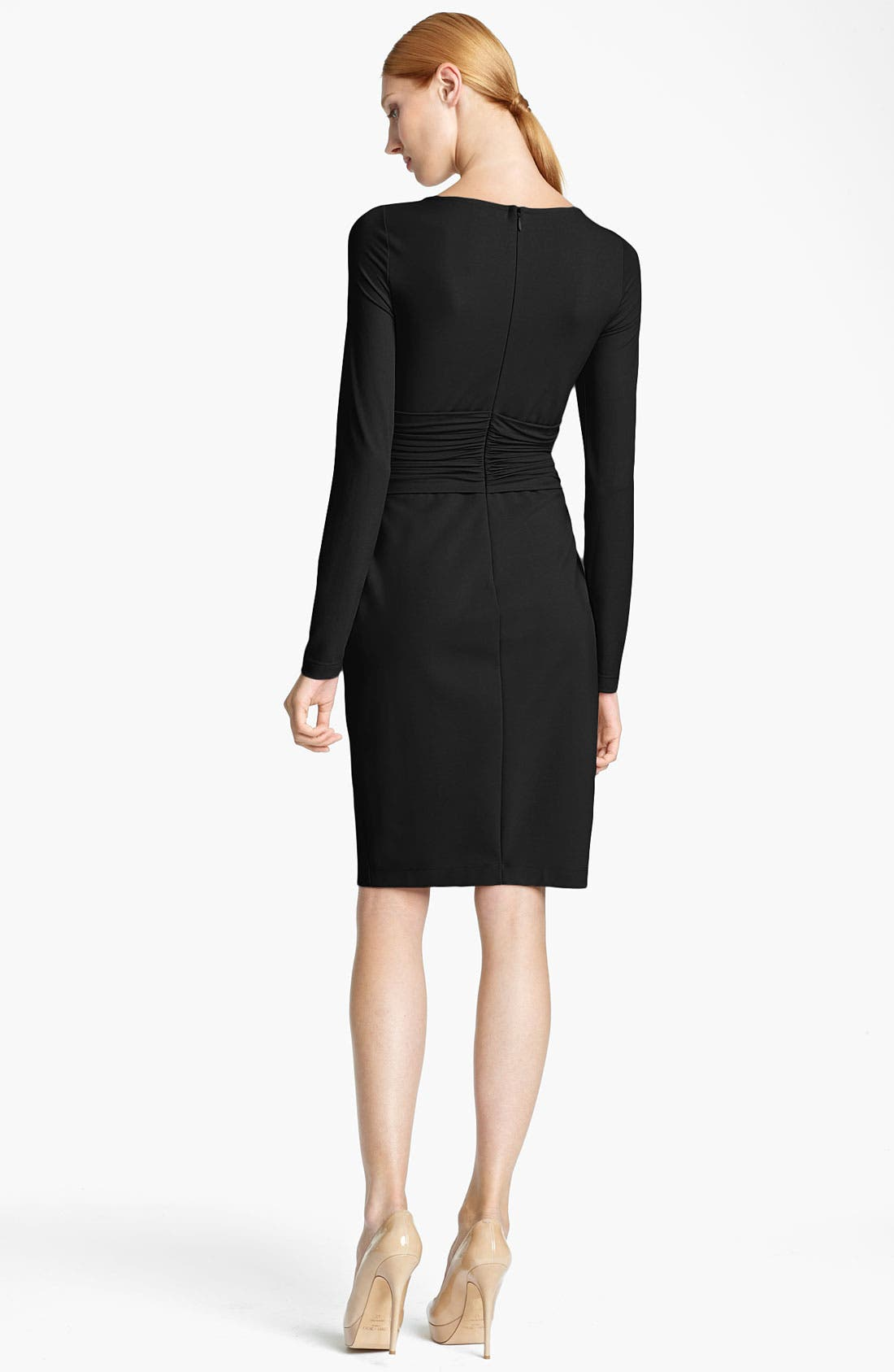 Alternate Image 2  - Max Mara 'Angolo' Ruched Waist Jersey Dress