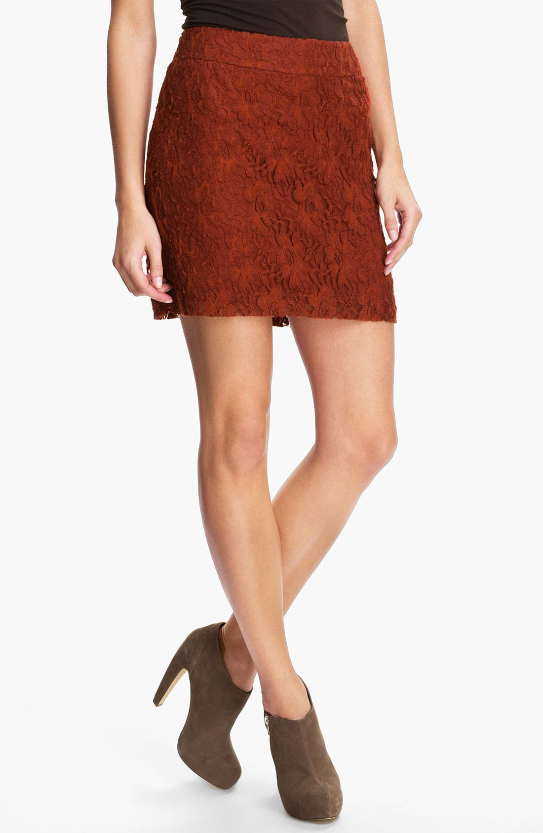 Main Image - Kensie 'Fuzzy Lace' Skirt (Online Exclusive)
