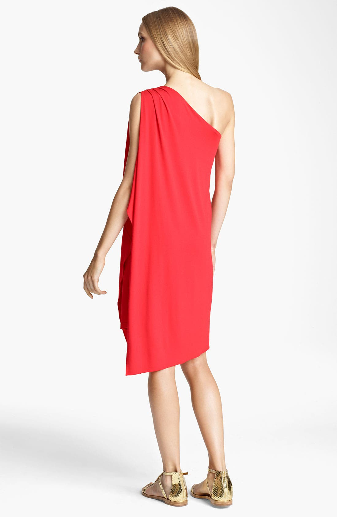 Alternate Image 2  - Michael Kors One Shoulder Matte Jersey Dress