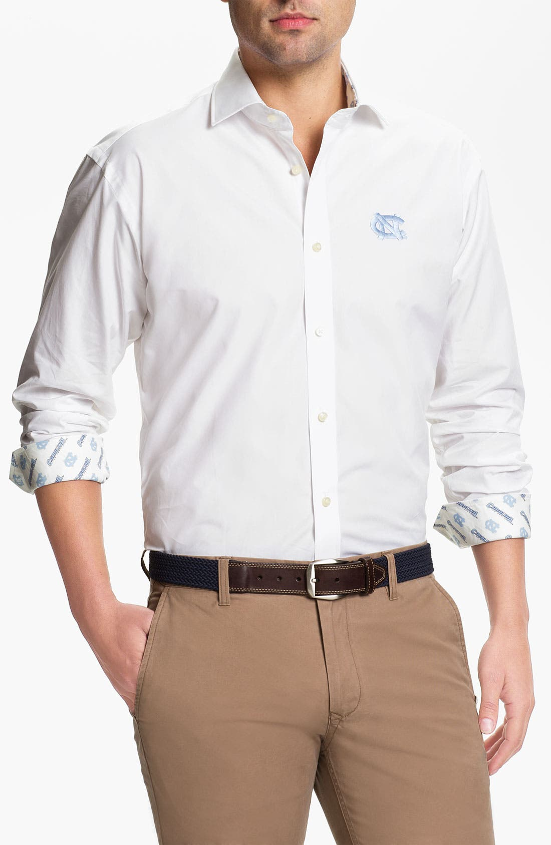 Main Image - Thomas Dean 'University of North Carolina' Sport Shirt