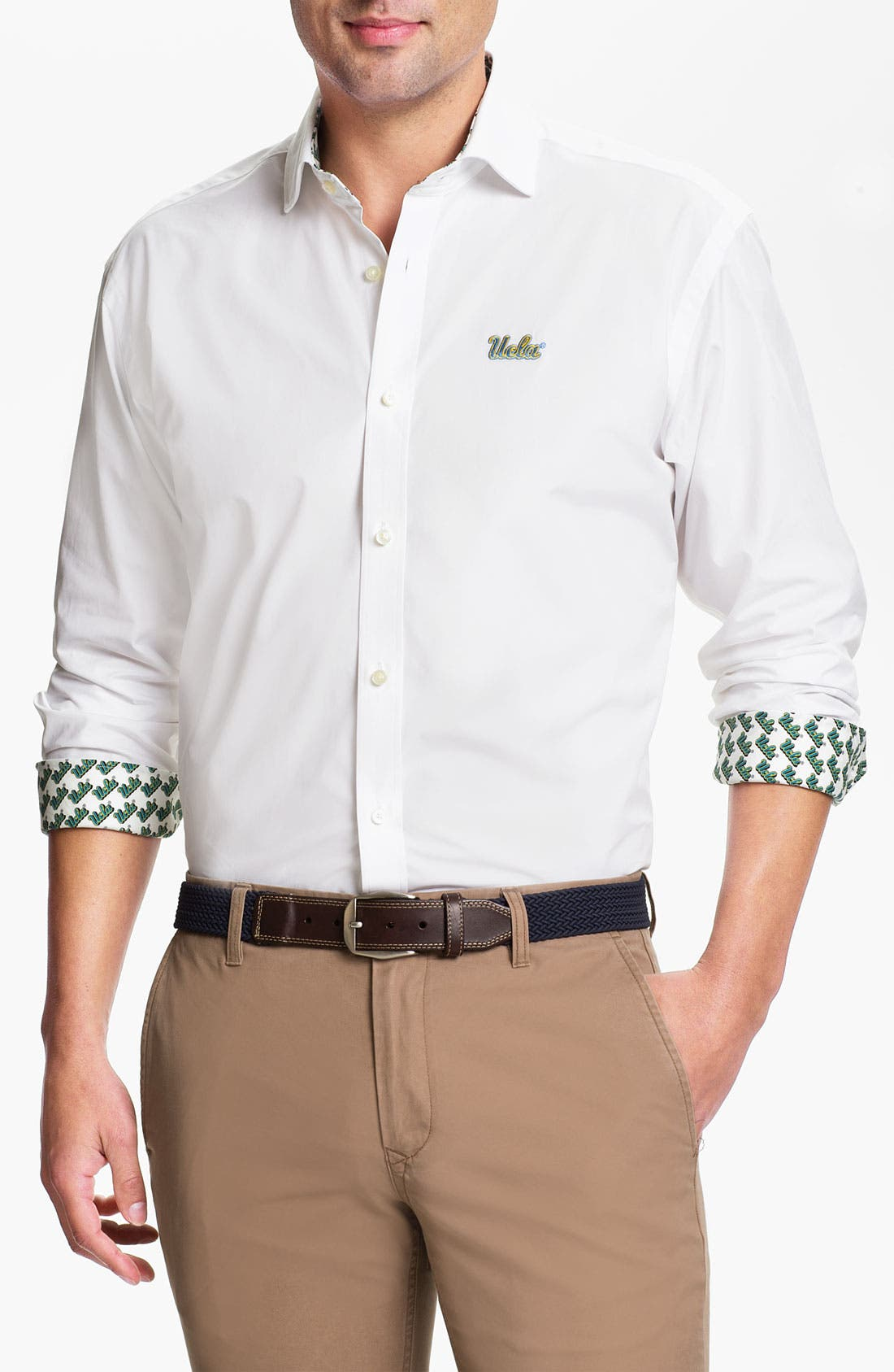 Main Image - Thomas Dean 'UCLA' Traditional Fit Sport Shirt