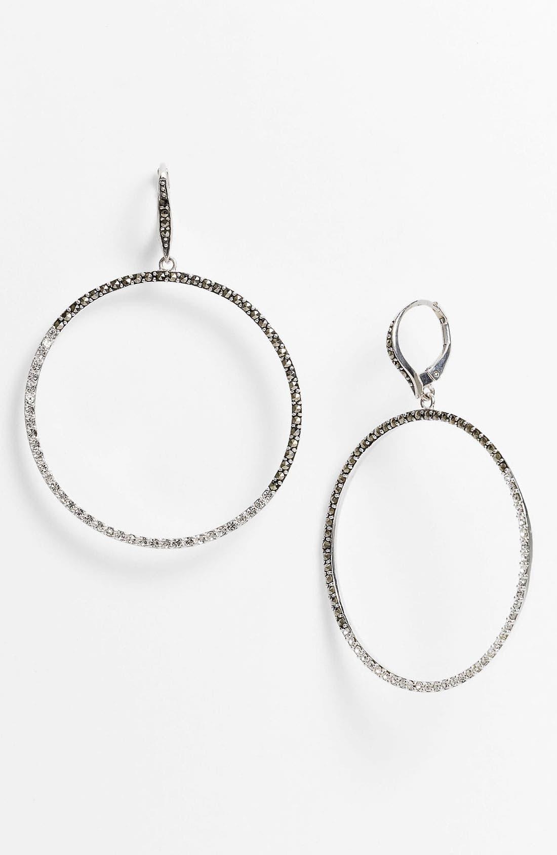Main Image - Judith Jack 'Crystal Glitz' Frontal Hoop Earrings