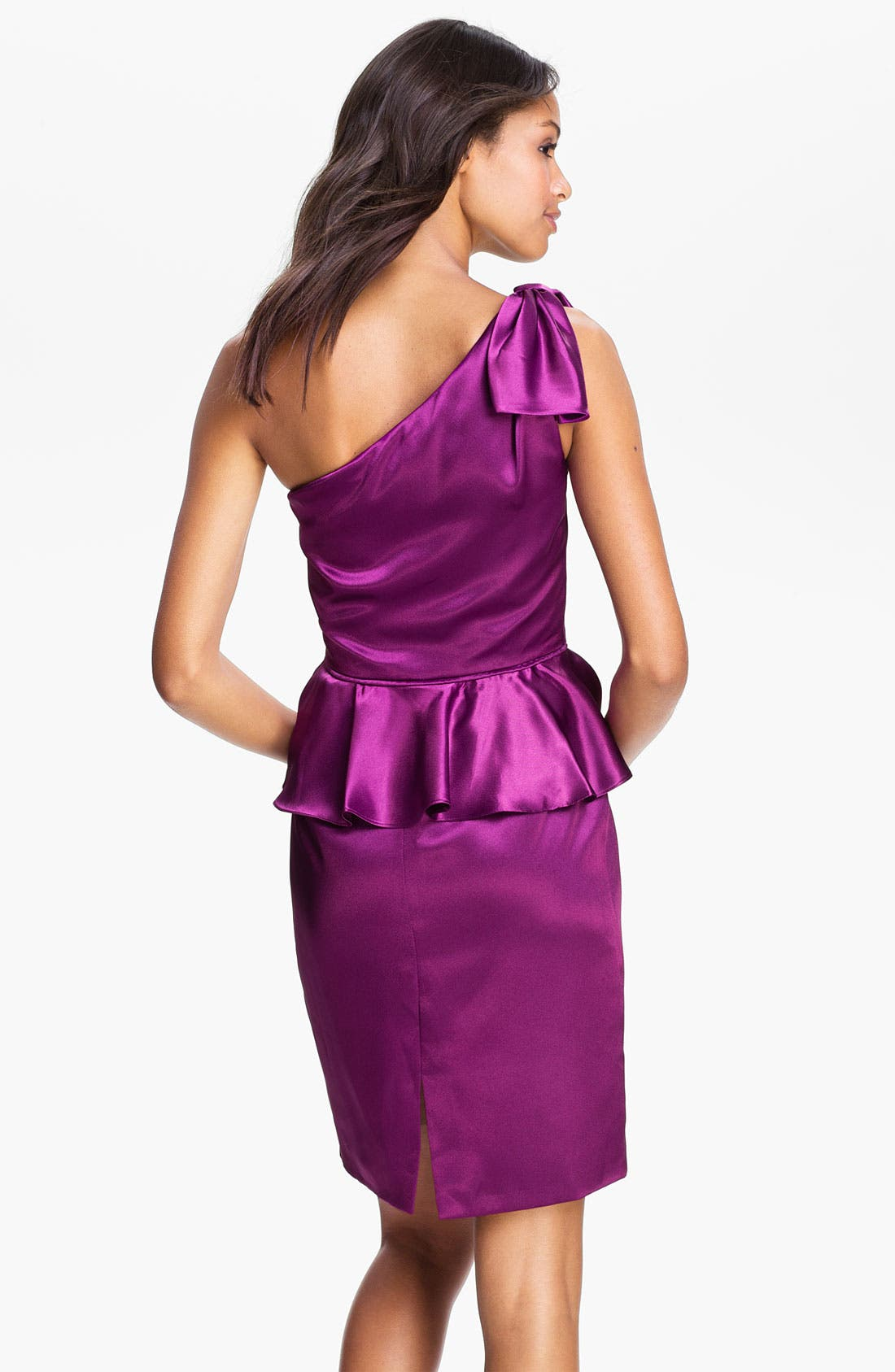 Alternate Image 2  - Jill Stuart One Shoulder Satin Peplum Dress