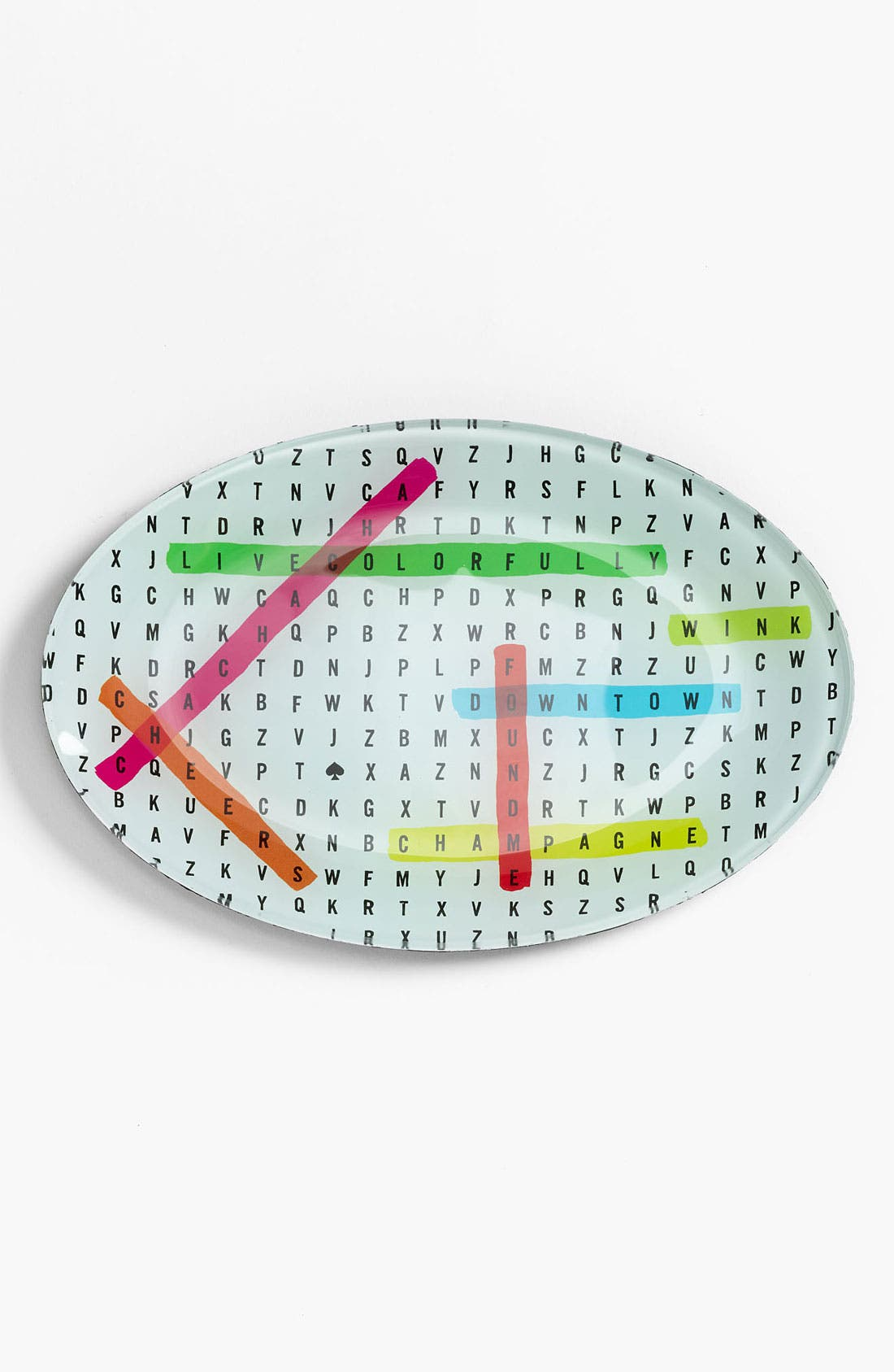 Alternate Image 1 Selected - kate spade new york 'say the word' word search dish