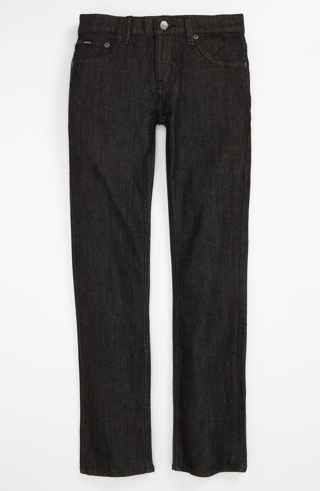 Alternate Image 2  - RVCA 'Regulars' Slim Fit Jeans (Black) (Big Boys)