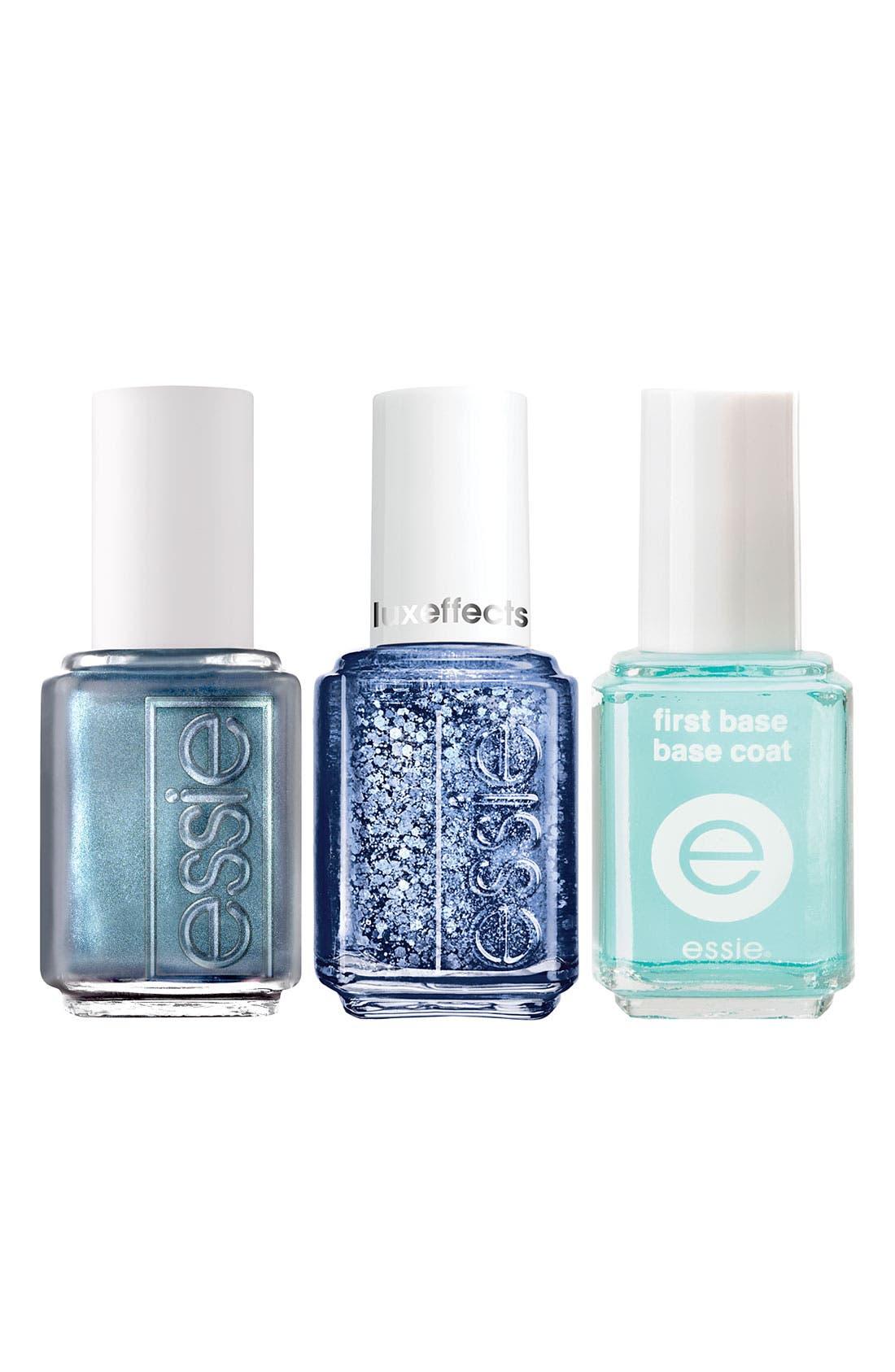 Alternate Image 1 Selected - essie® 'Razzle Dazzle Manicure - Blue' Nail Trio