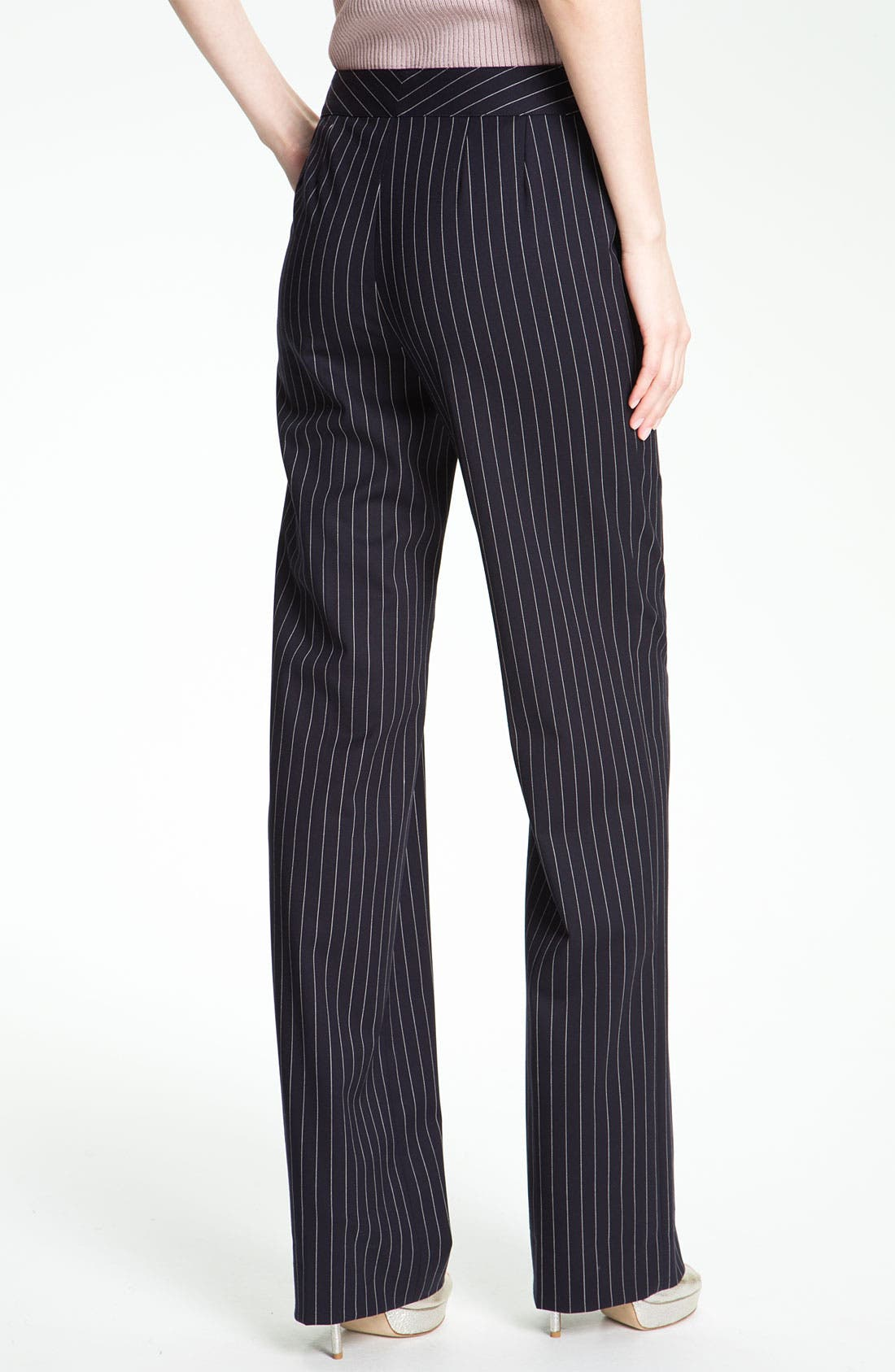 Alternate Image 3  - St. John Collection 'Shelley' Pinstripe Flare Leg Pants