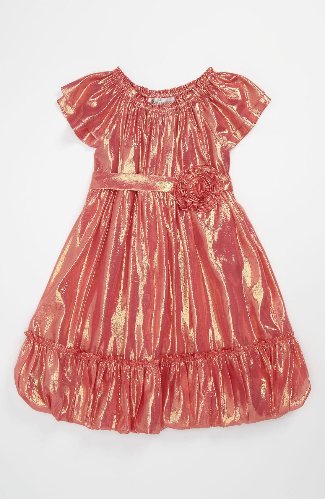 Main Image - Halabaloo Metallic Dress (Little Girls)