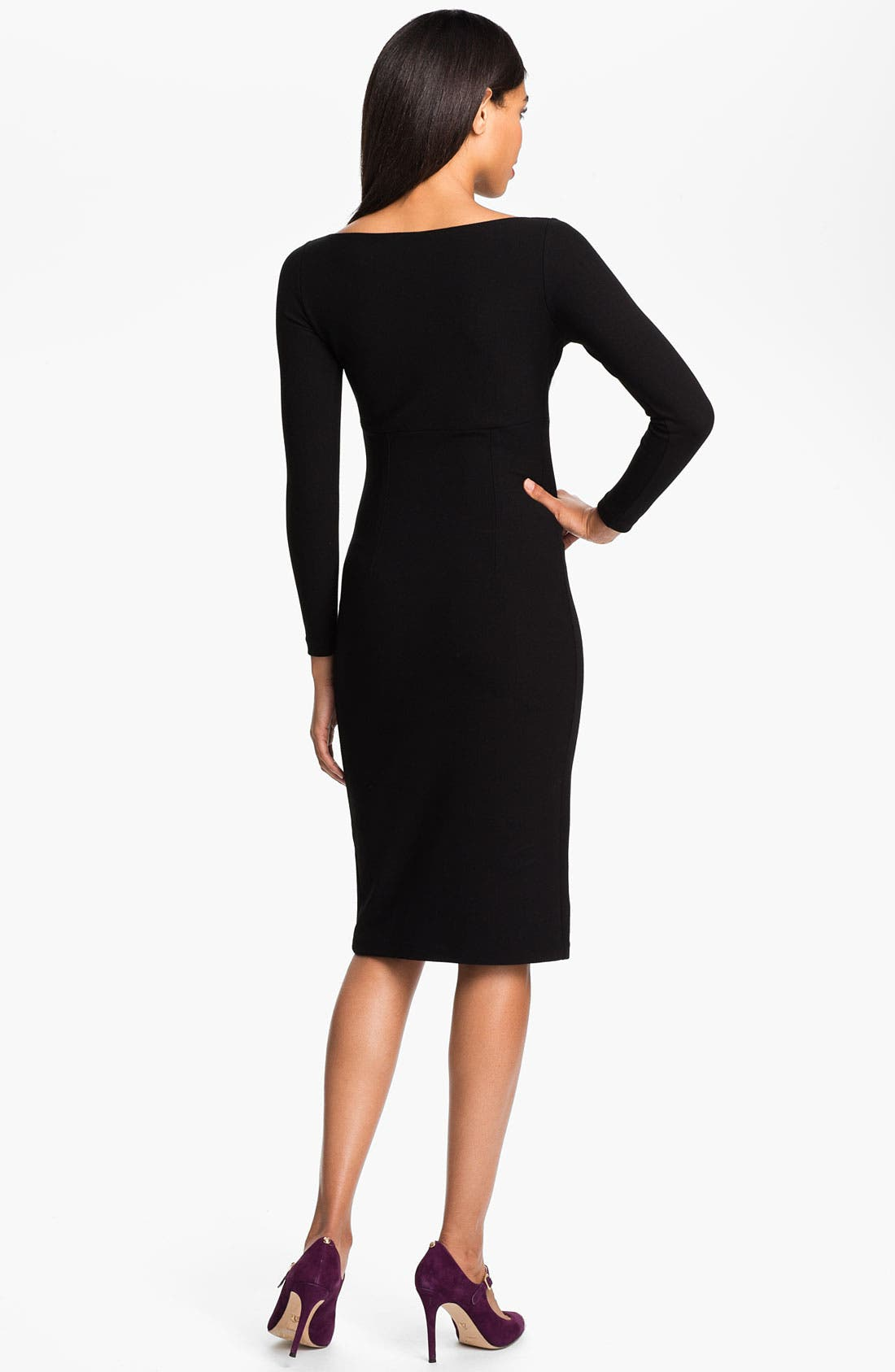 Alternate Image 2  - La Petite Robe by Chiara Boni Ruched V-Neck Sheath Dress