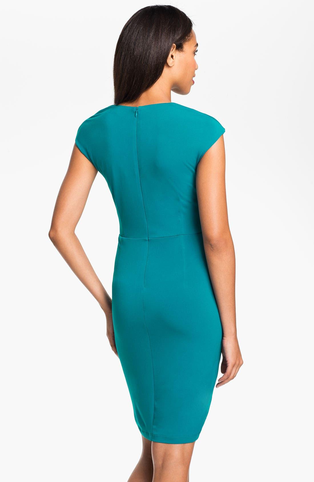 Alternate Image 2  - Calvin Klein Surplice Jersey Day Dress