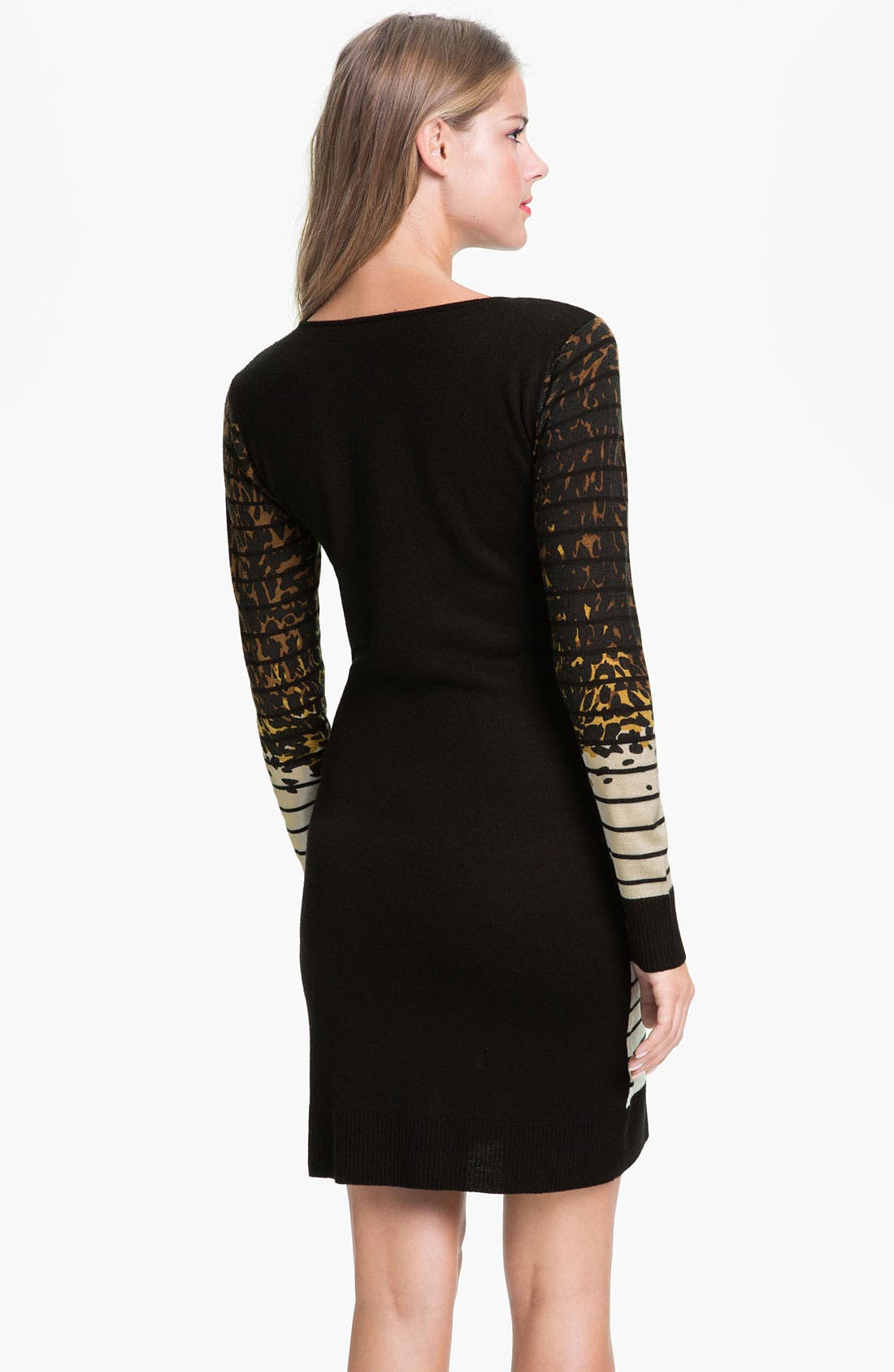 Alternate Image 2  - Tahari Multi Print Long Sleeve Sweater Dress